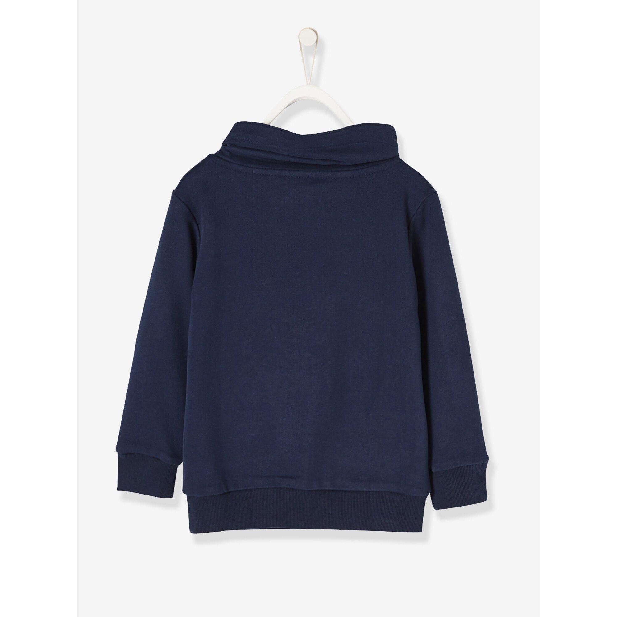 vertbaudet-jungen-sweater-uberkreuzter-stehkragen, 14.69 EUR @ babywalz-de
