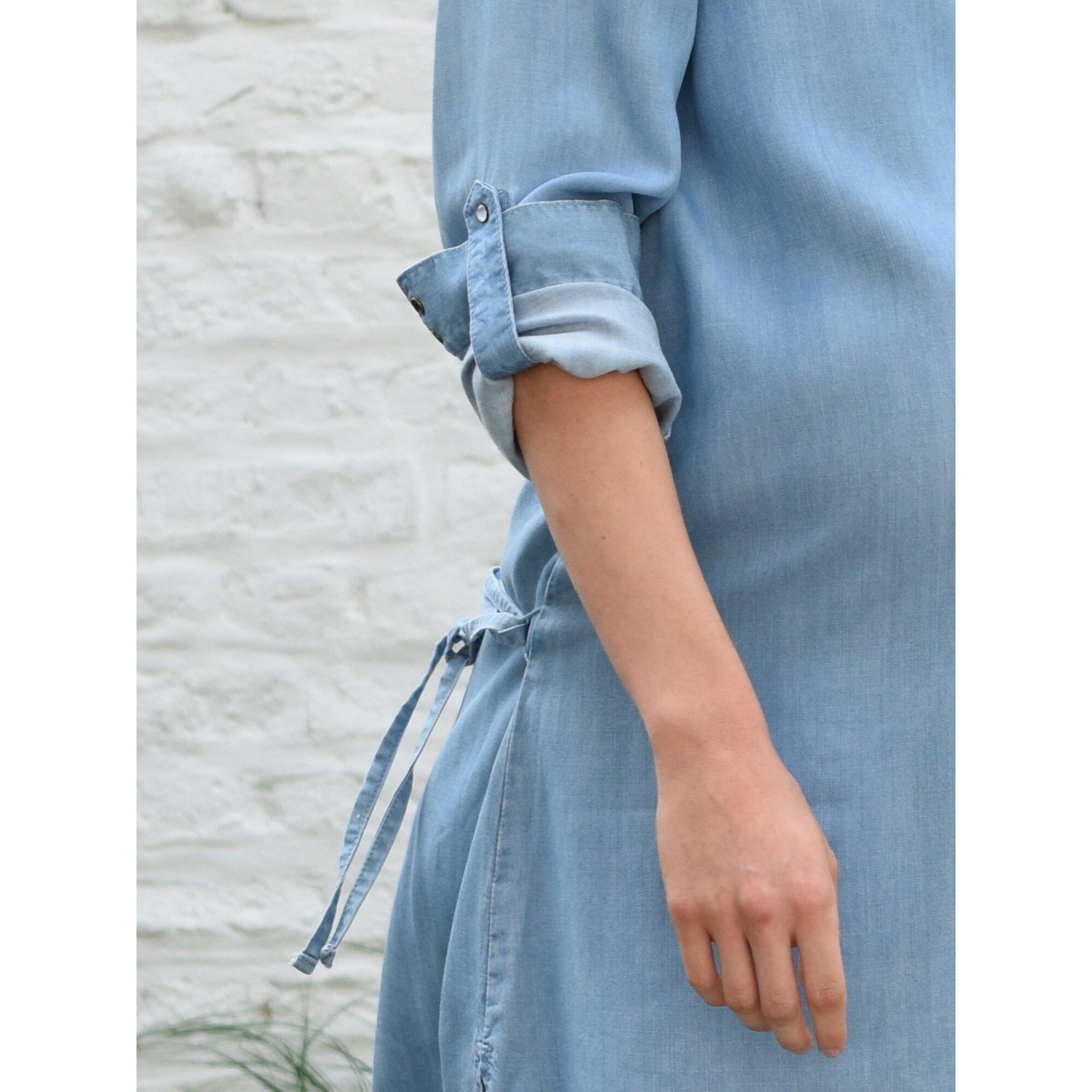 vertbaudet-umstandskleid-in-jeansoptik, 40.99 EUR @ babywalz-de