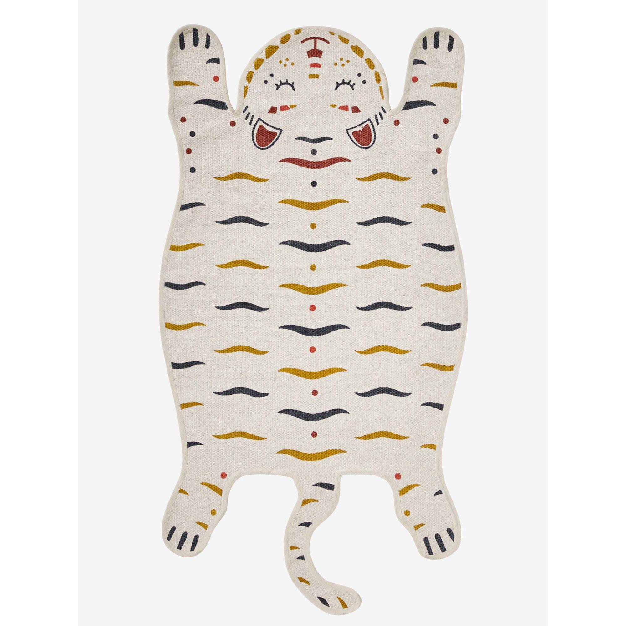 """Vertbaudet Kinderzimmer-Teppich """"Tiger"""" weiss"""
