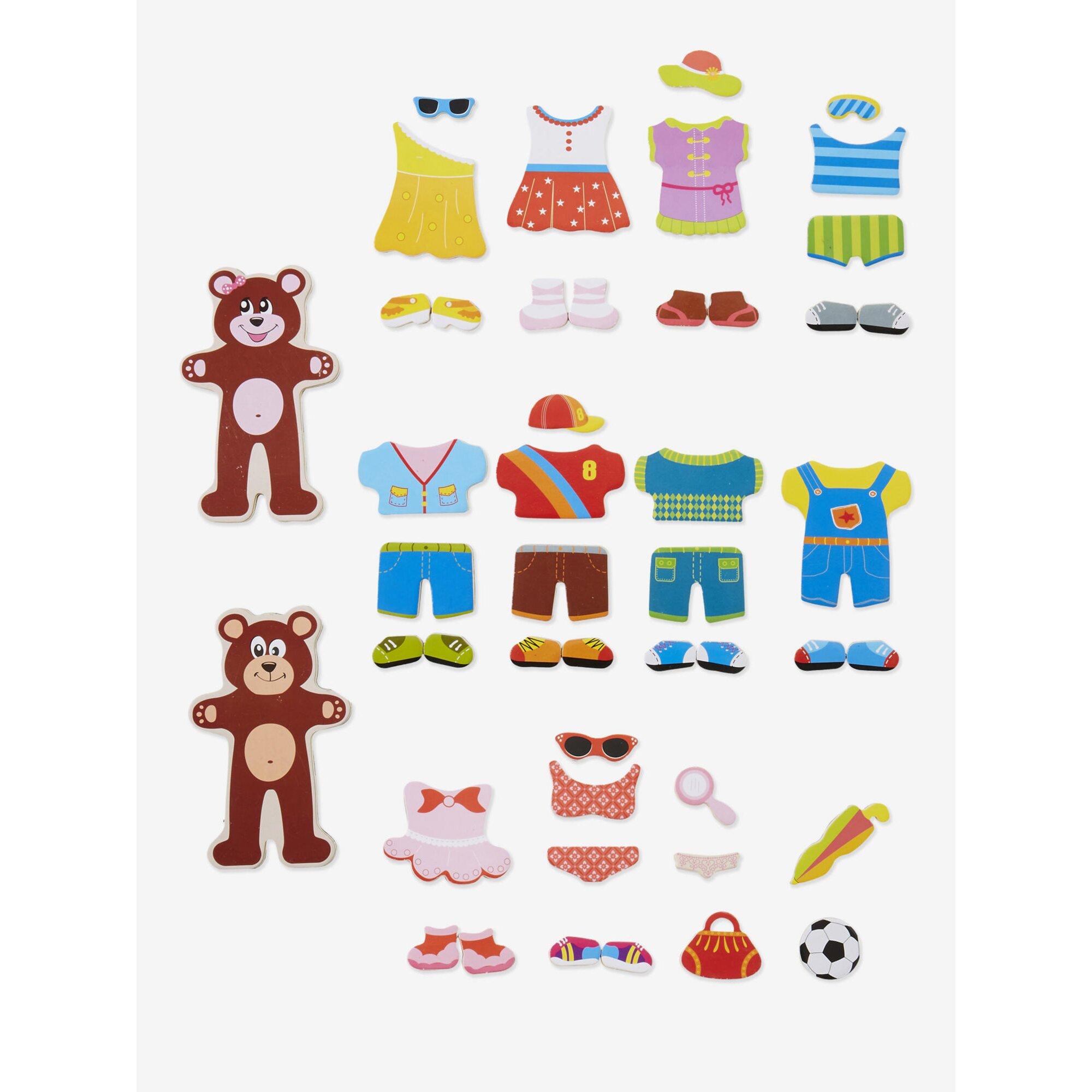 vertbaudet-anzieh-magnetspiel-teddy-47-teile, 19.99 EUR @ babywalz-de