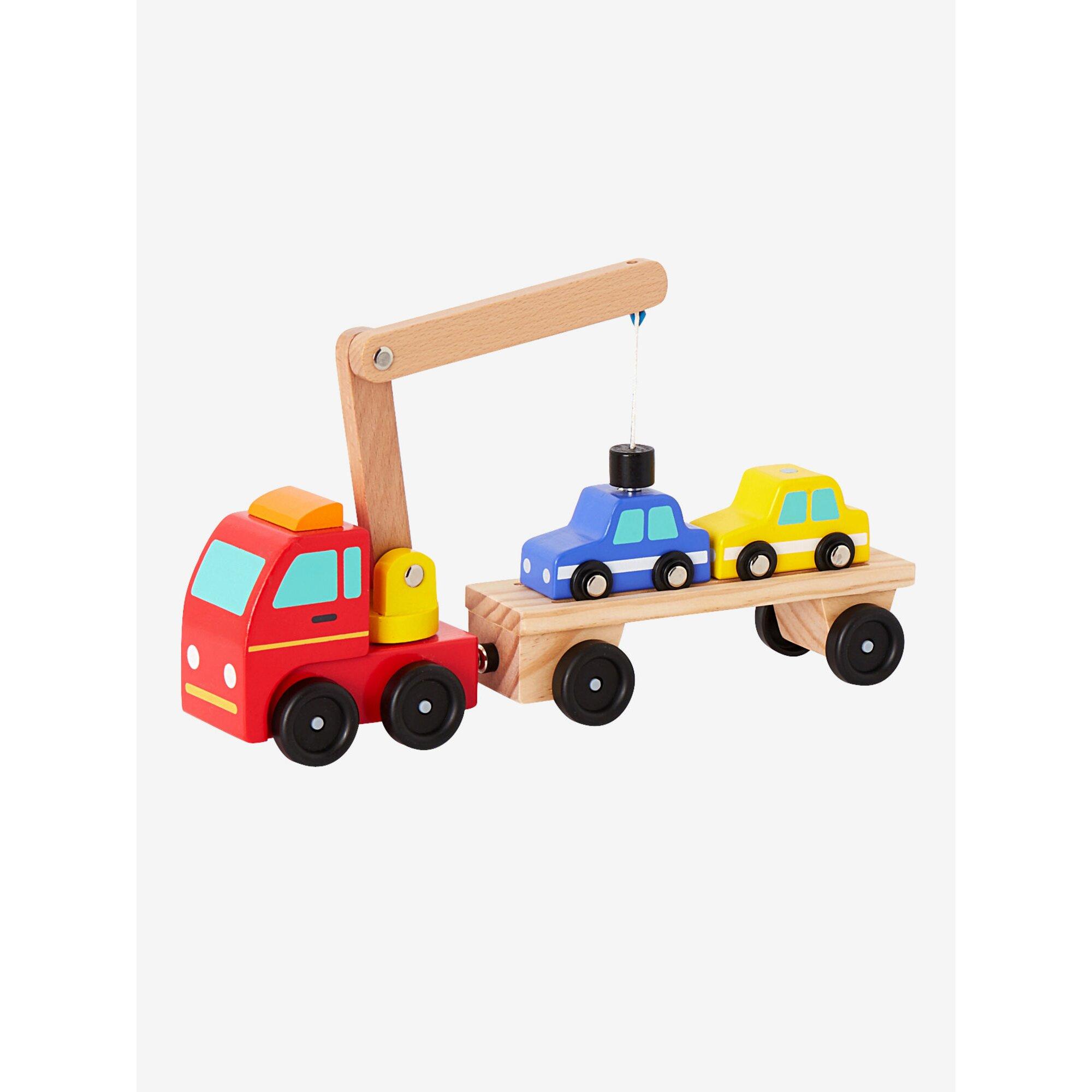 vertbaudet-abschleppwagen-mit-2-autos-aus-holz