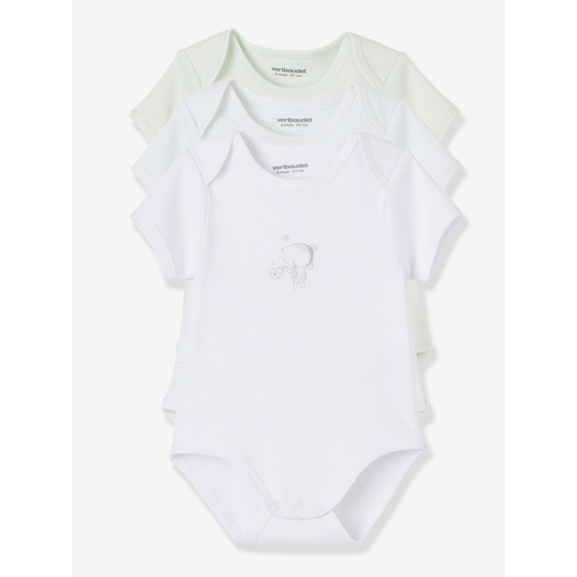 vertbaudet-3er-pack-bodys-fur-babys-kurze-armel, 11.99 EUR @ babywalz-de
