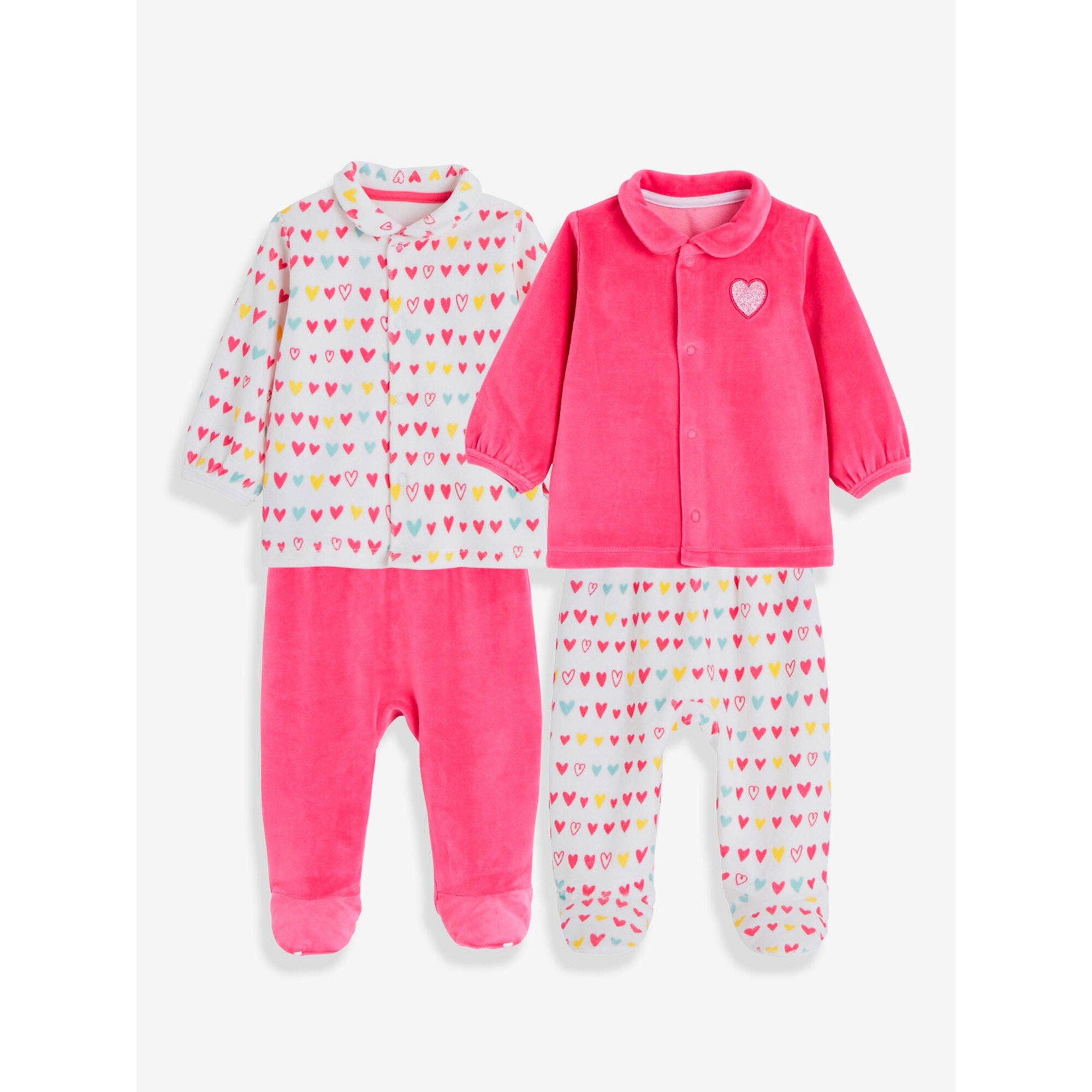 vertbaudet-2er-pack-baby-pyjamas-aus-samt
