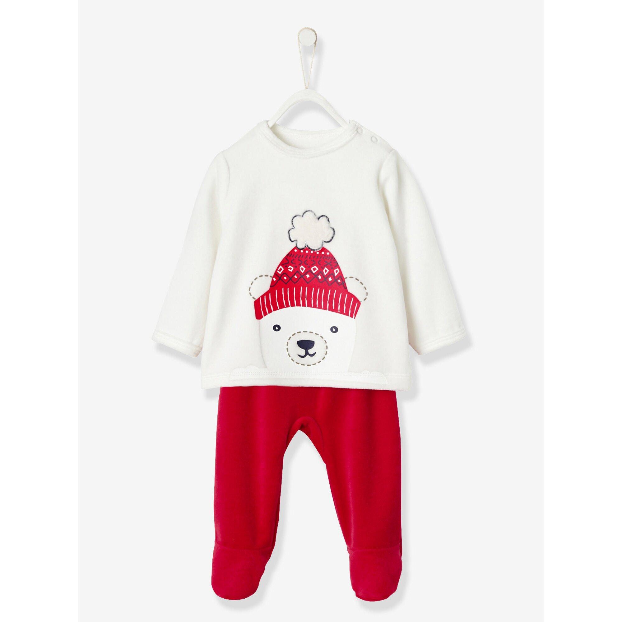 vertbaudet-2er-pack-baby-schlafanzuge-aus-samt, 15.99 EUR @ babywalz-de