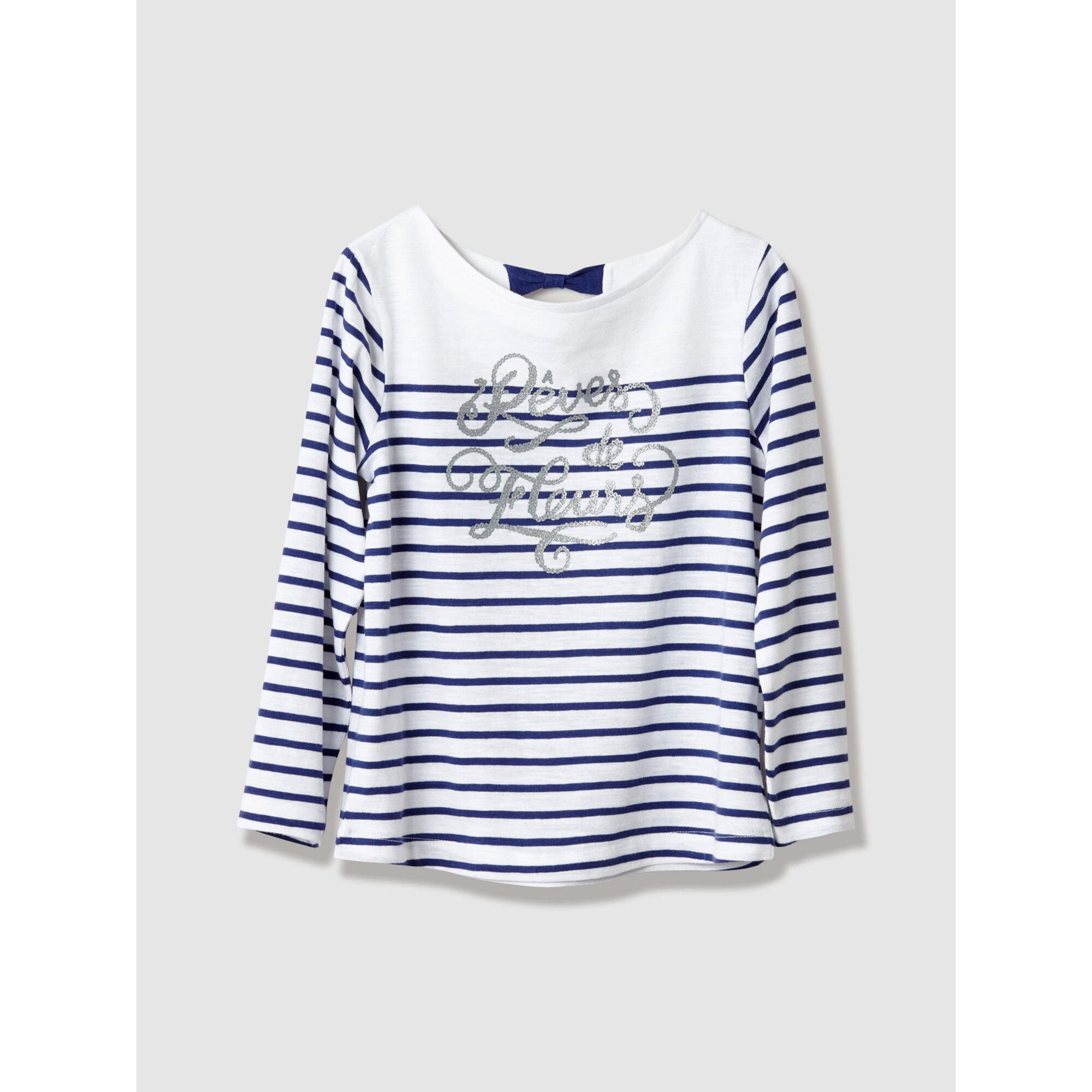Vertbaudet Gestreiftes Mädchenshirt aus Baumwolle blau G192/G197/86/92/110/116/128/140