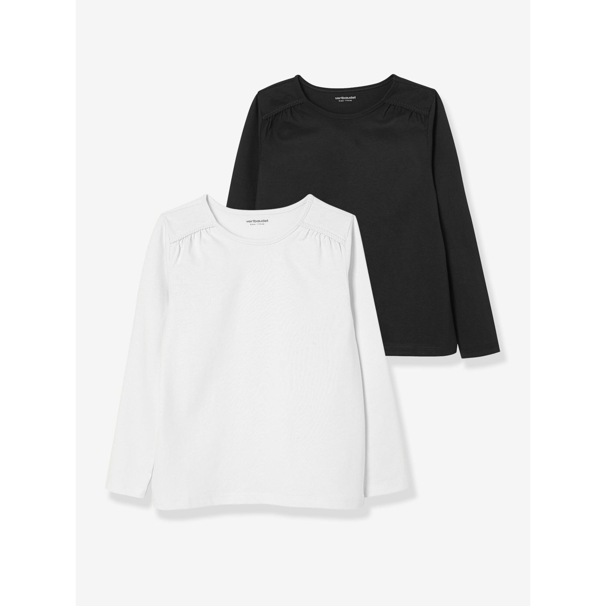 vertbaudet-2er-pack-langarm-shirts-fur-madchen-uni