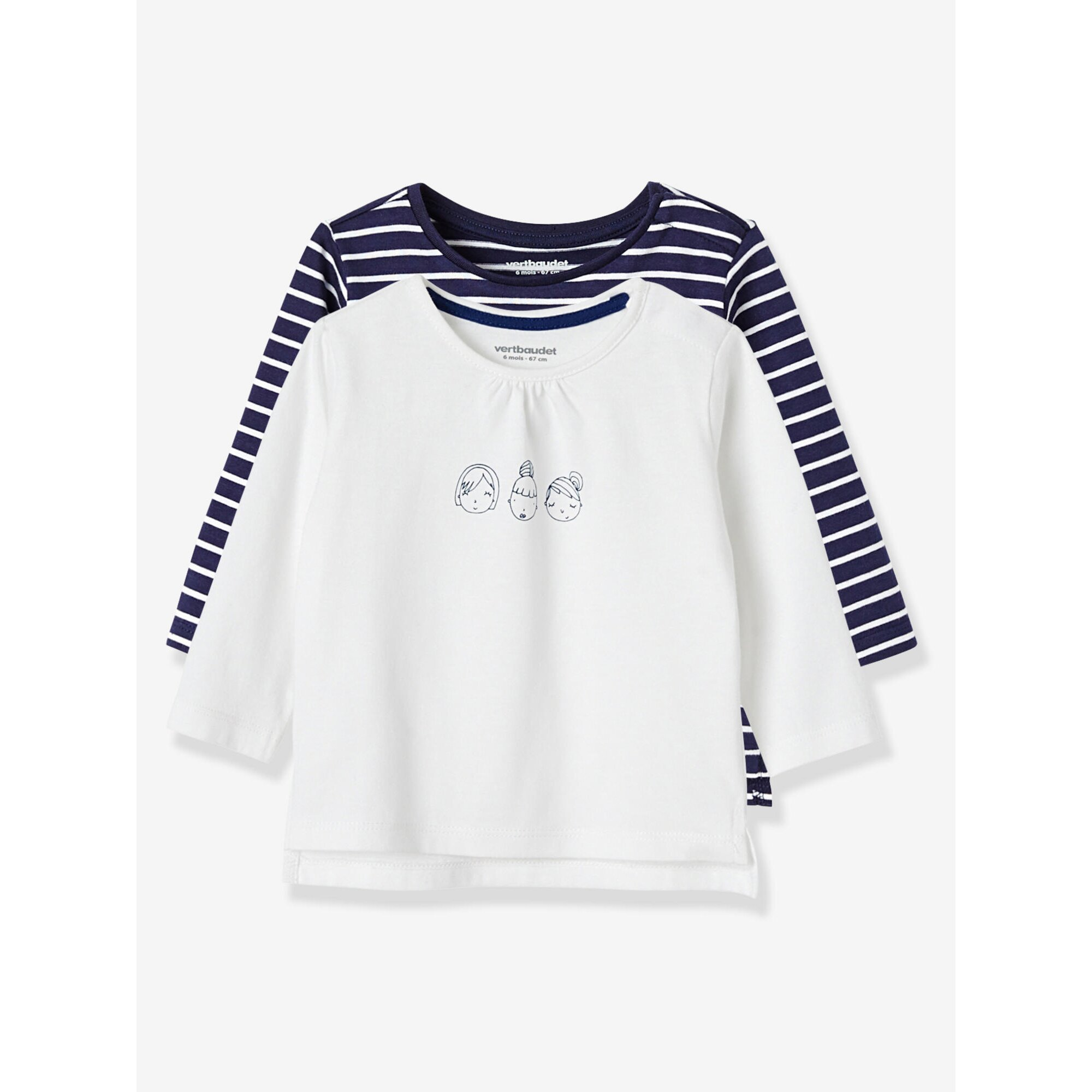 vertbaudet-2er-pack-babyshirts-fur-madchen, 10.99 EUR @ babywalz-de
