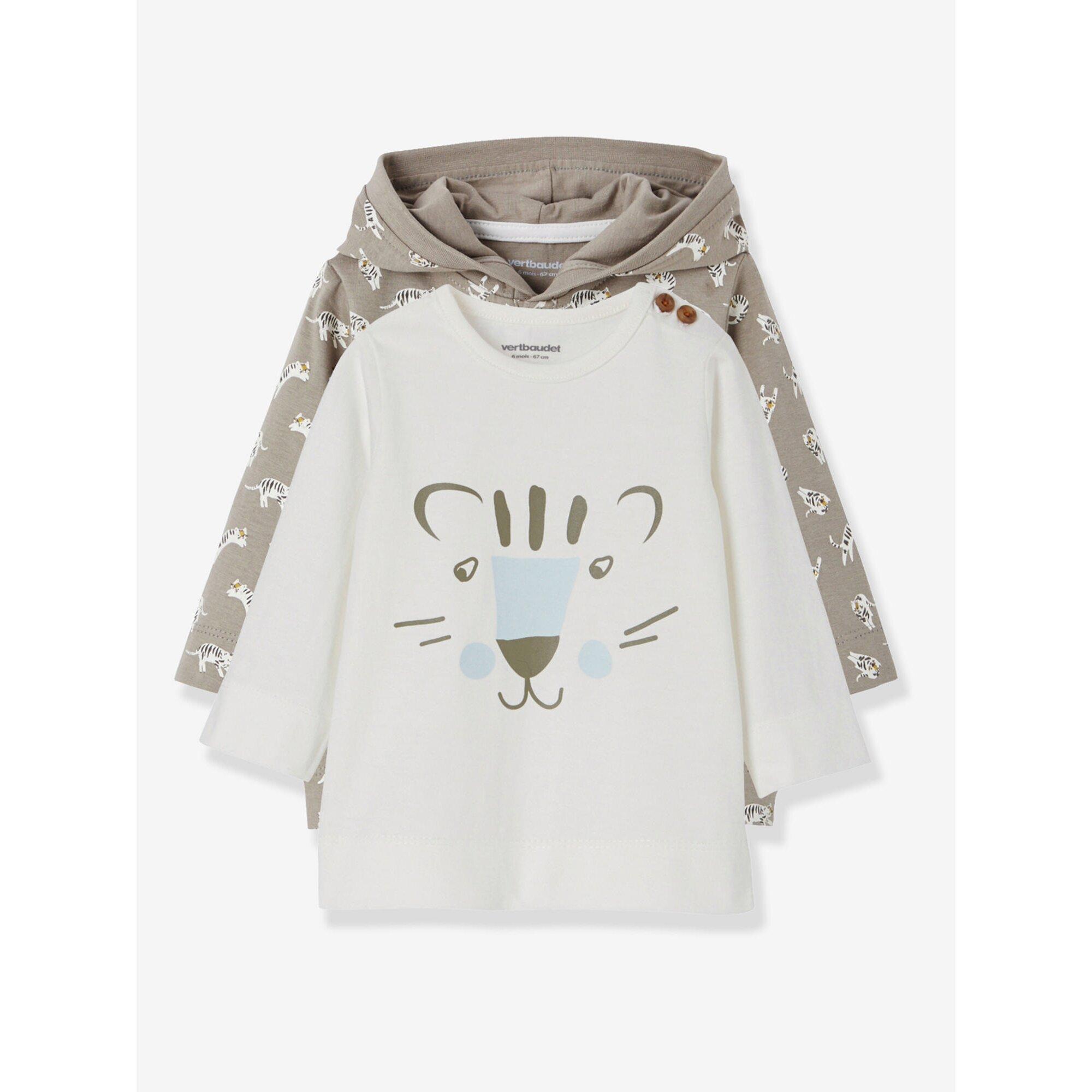 vertbaudet-2er-pack-shirts-fur-baby-jungen-tiger