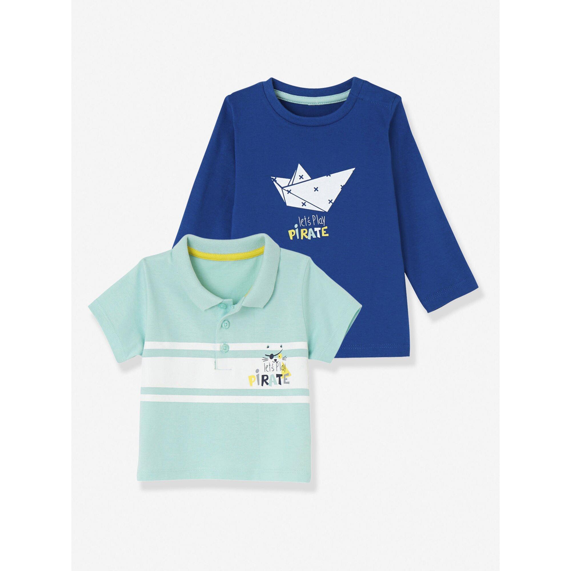 vertbaudet-baby-jungen-set-aus-t-shirt-und-poloshirt, 11.19 EUR @ babywalz-de