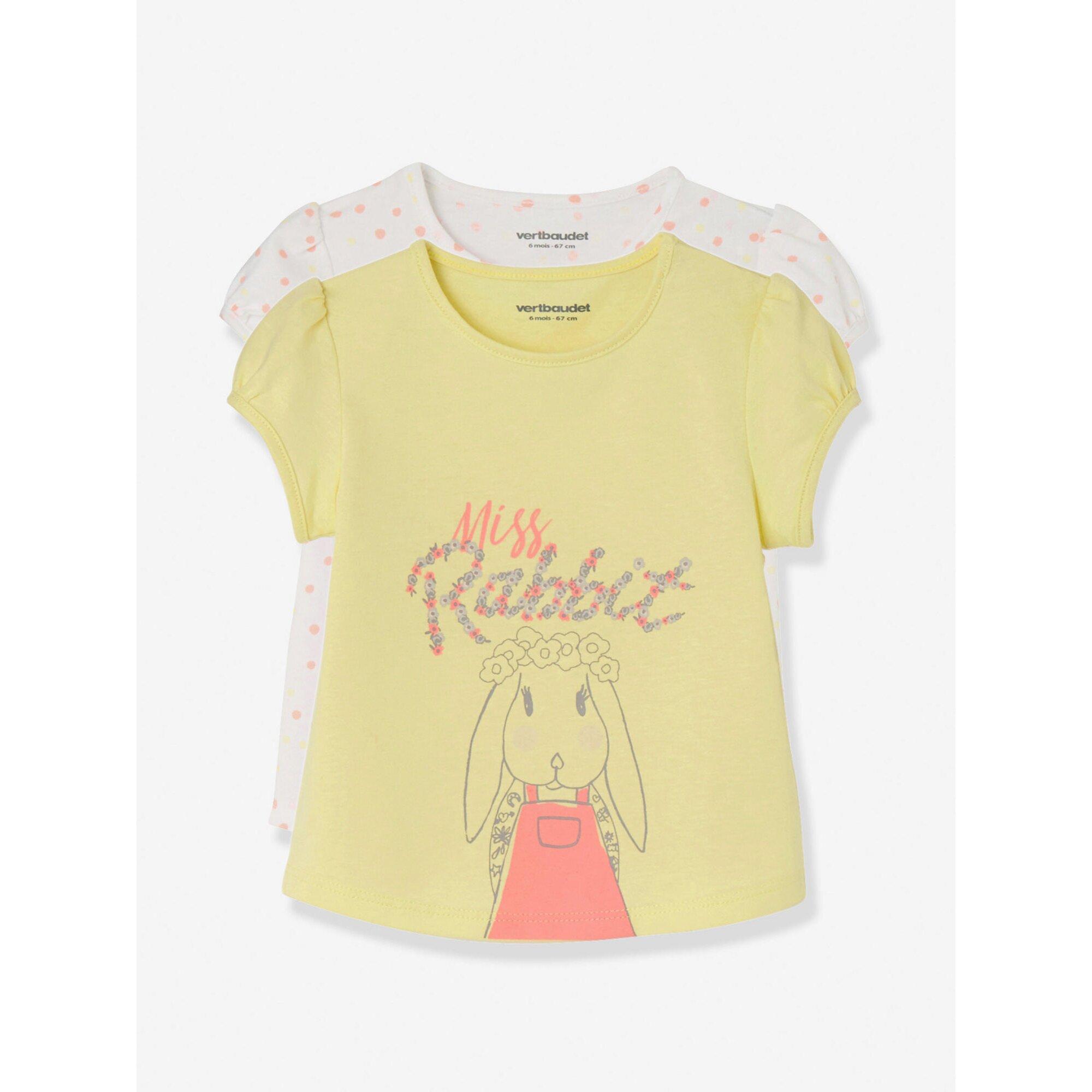 vertbaudet-2er-pack-baby-madchen-t-shirts, 8.39 EUR @ babywalz-de