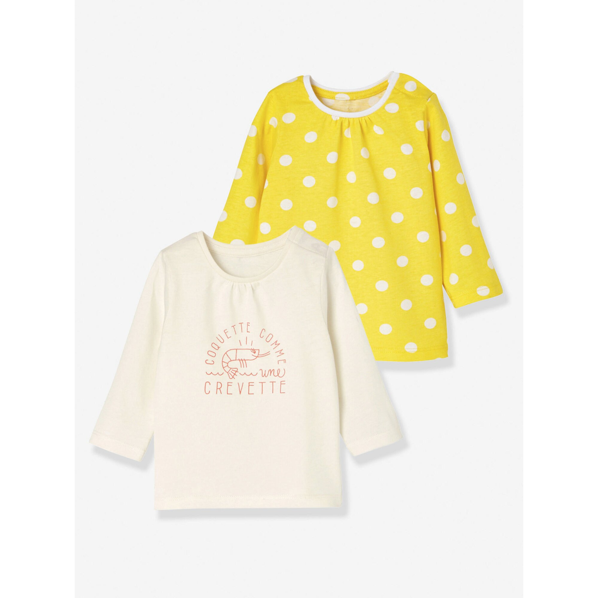 vertbaudet-2er-pack-baby-madchen-shirts-langarm, 10.99 EUR @ babywalz-de
