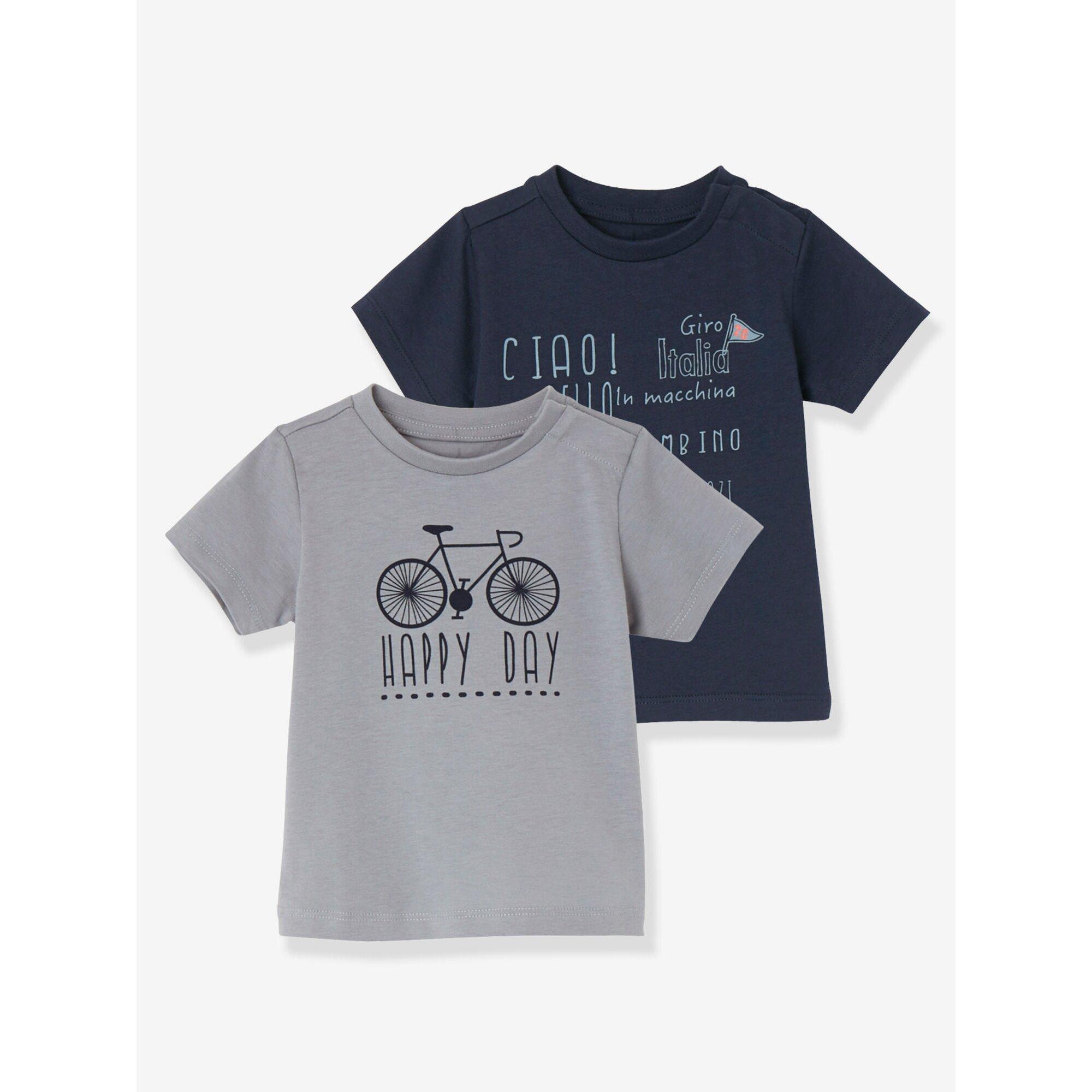 vertbaudet-2er-pack-t-shirts-fur-baby-jungen-bedruckt