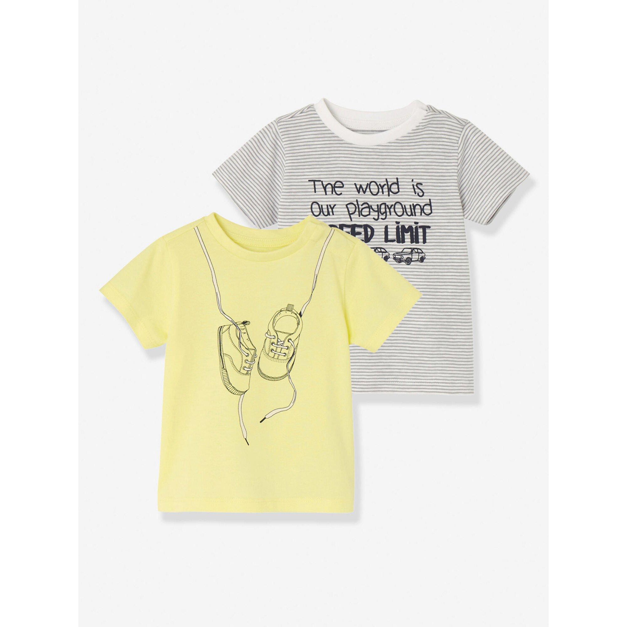 vertbaudet-2er-pack-t-shirts-fur-baby-jungen-bedruckt, 11.89 EUR @ babywalz-de