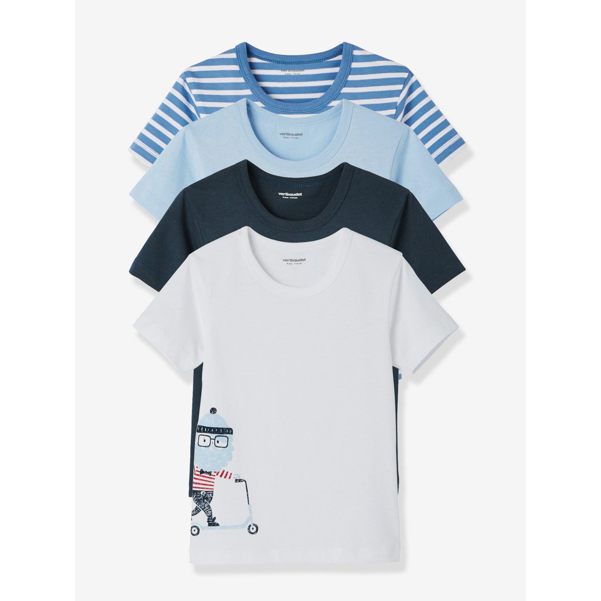 vertbaudet-4er-pack-t-shirts-fur-jungen