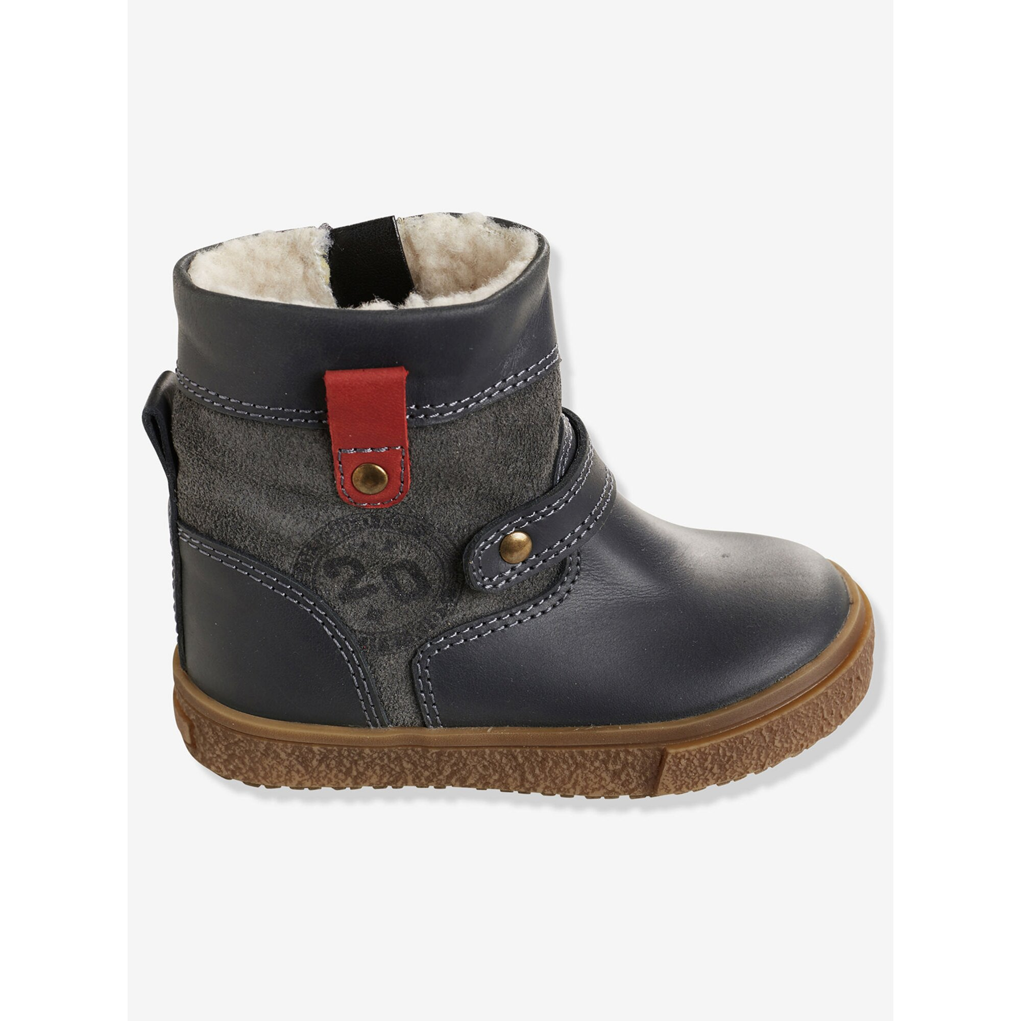 vertbaudet-warmfutter-leder-boots-fur-jungen, 54.99 EUR @ babywalz-de