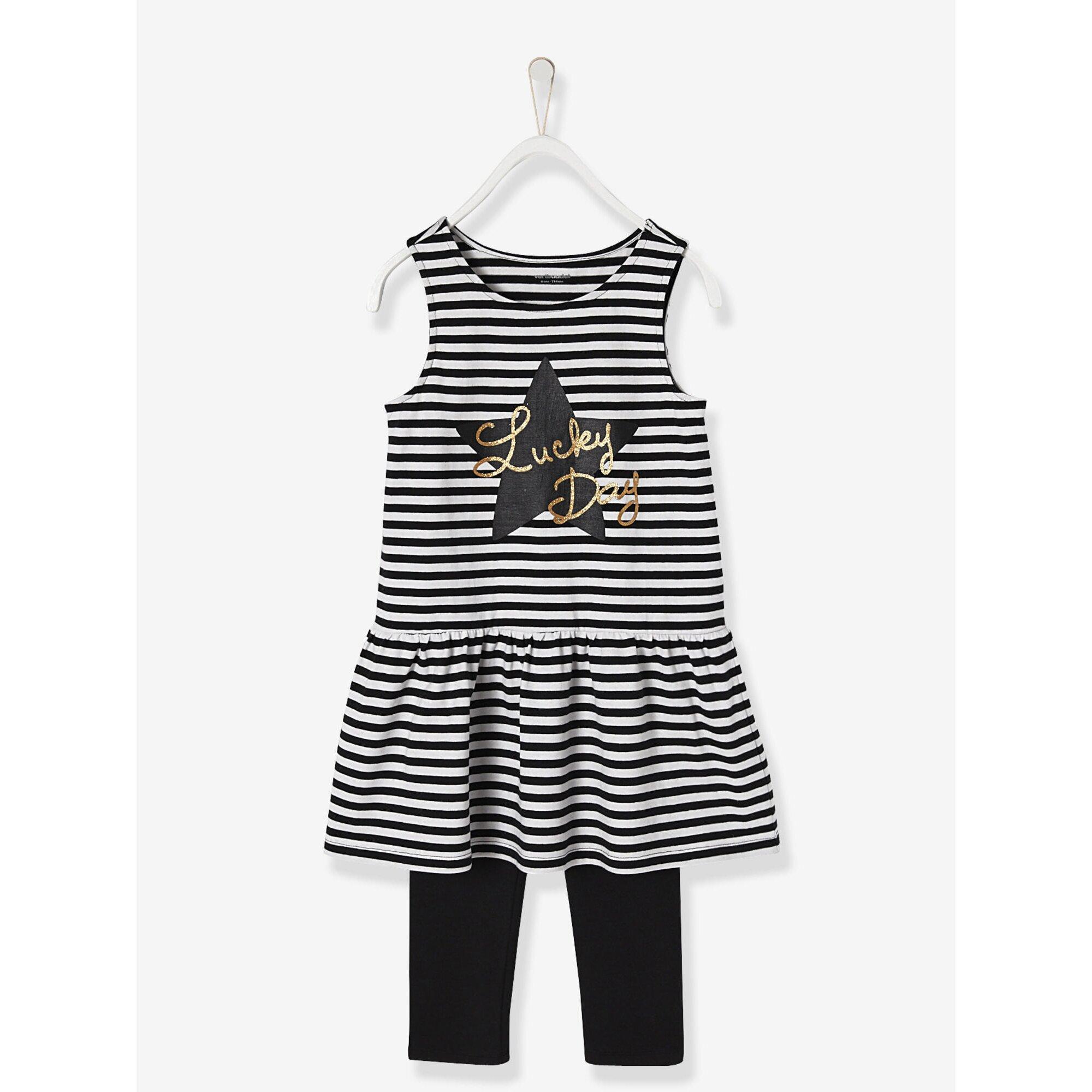 vertbaudet-madchenset-kleid-cardigan-leggings, 30.99 EUR @ babywalz-de