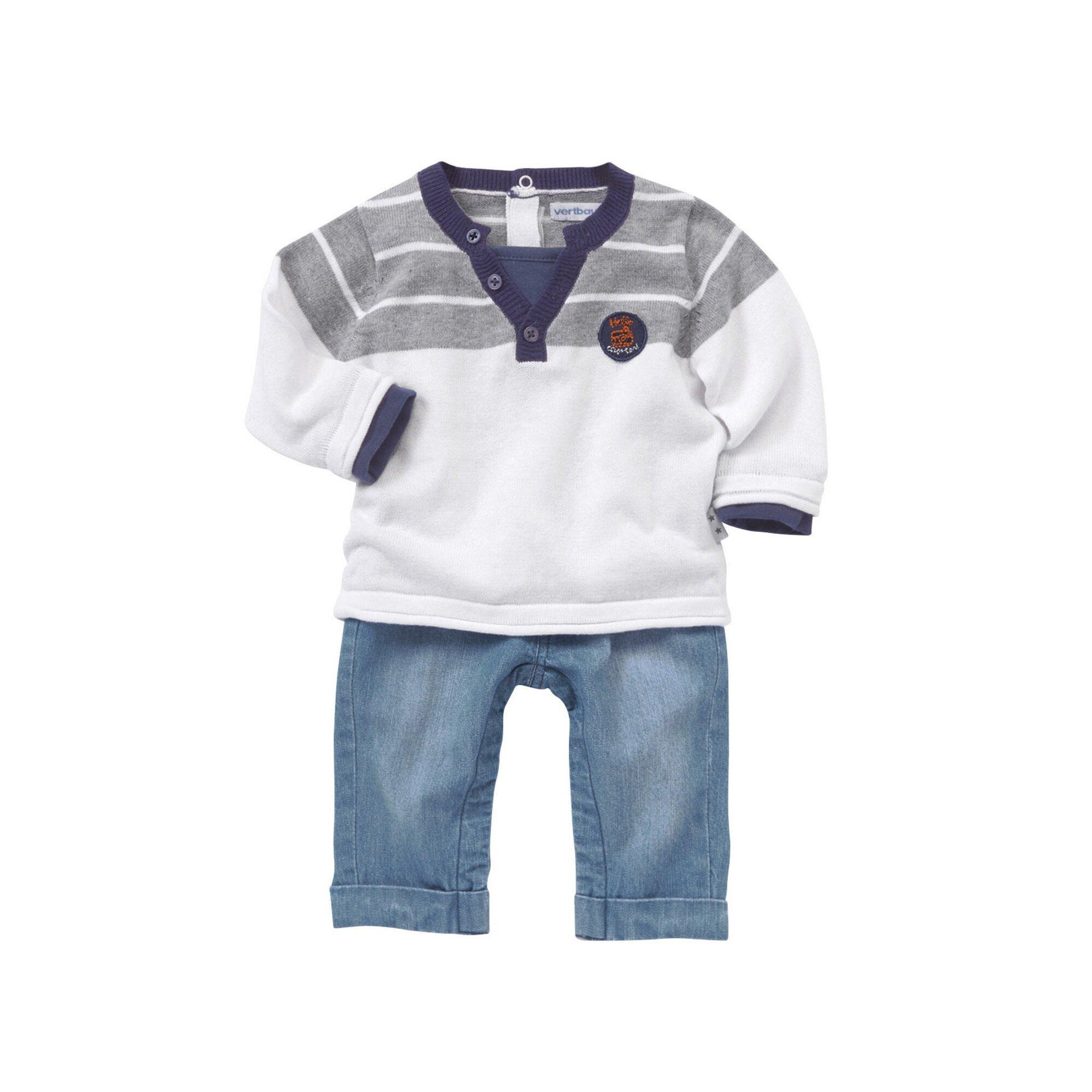 vertbaudet-jungenset-aus-baby-pullover-und-jeans, 30.99 EUR @ babywalz-de