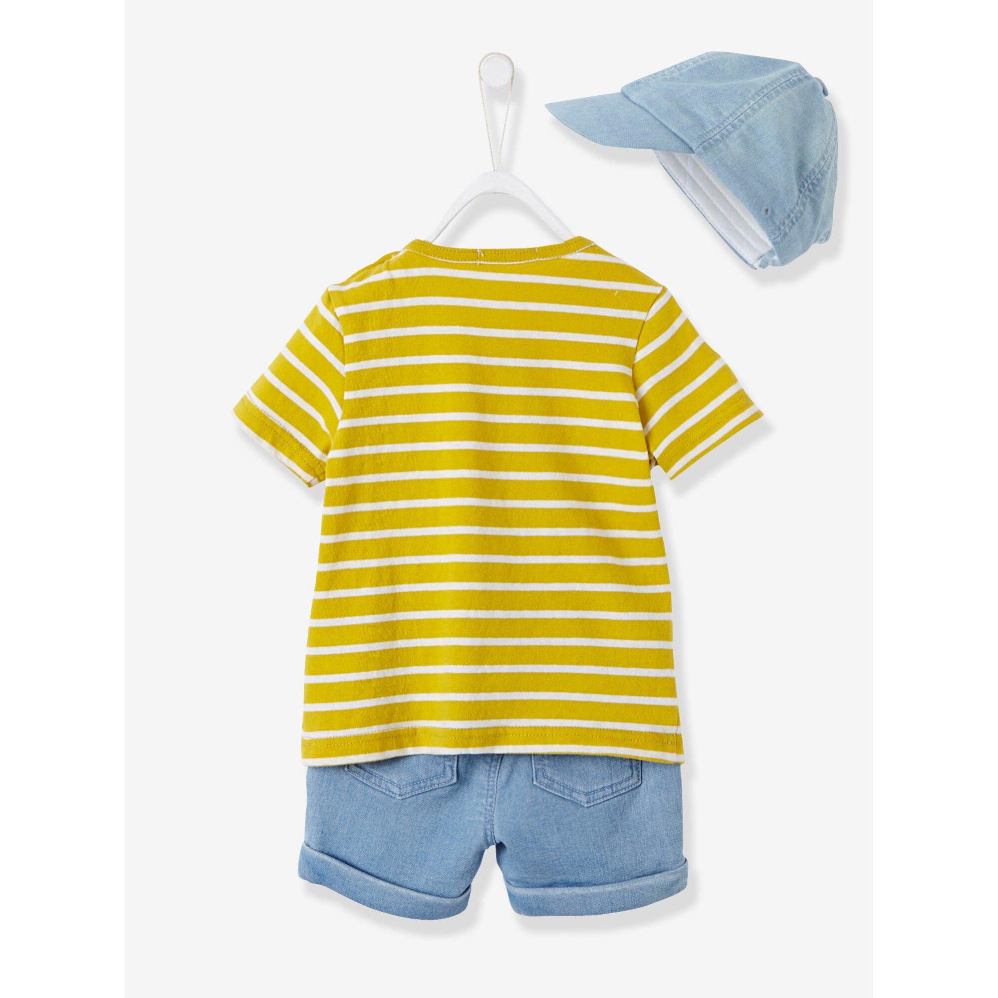 vertbaudet-cap-t-shirt-und-bermudas-baby-jungen