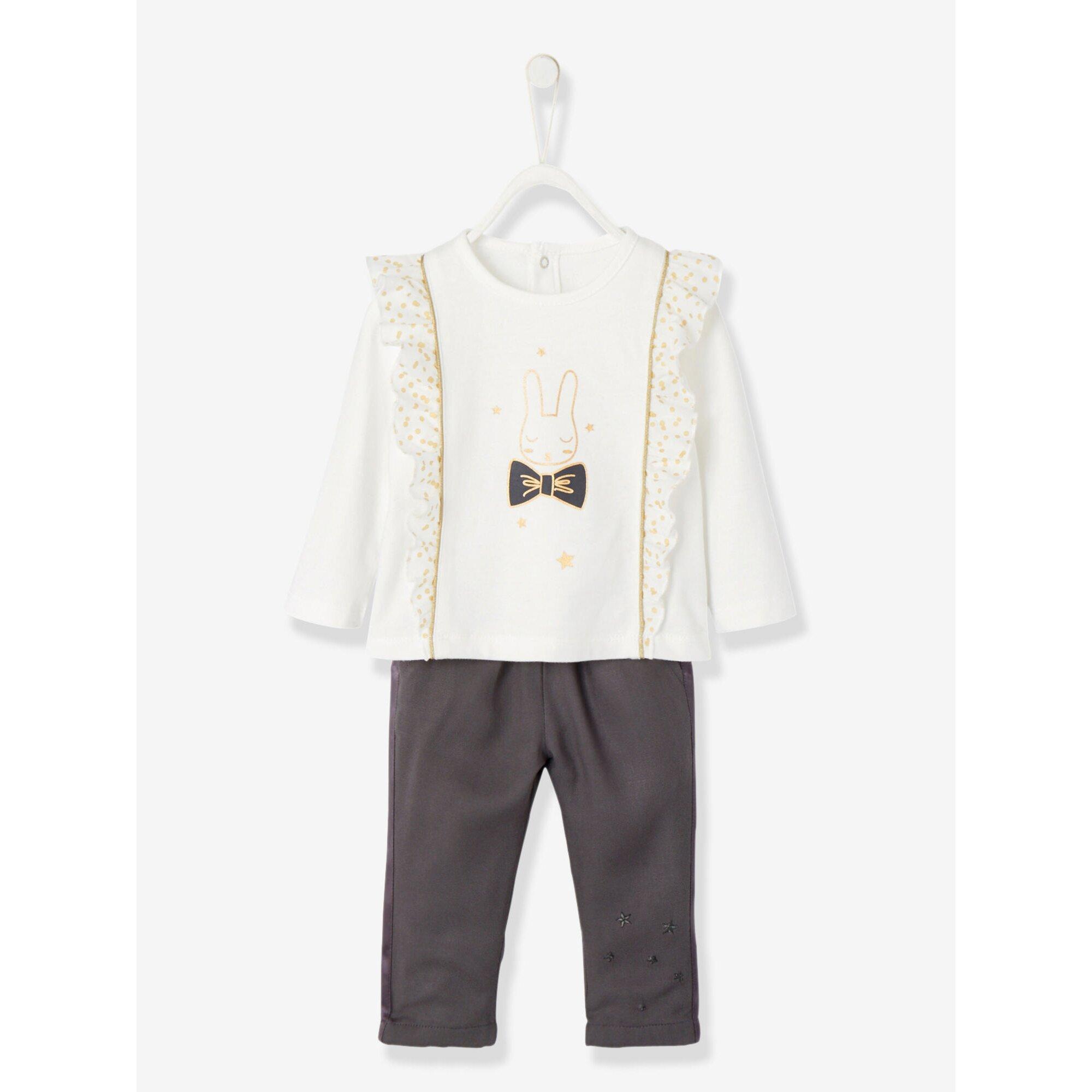 vertbaudet-set-aus-bluse-und-hose-fur-baby-madchen, 30.99 EUR @ babywalz-de