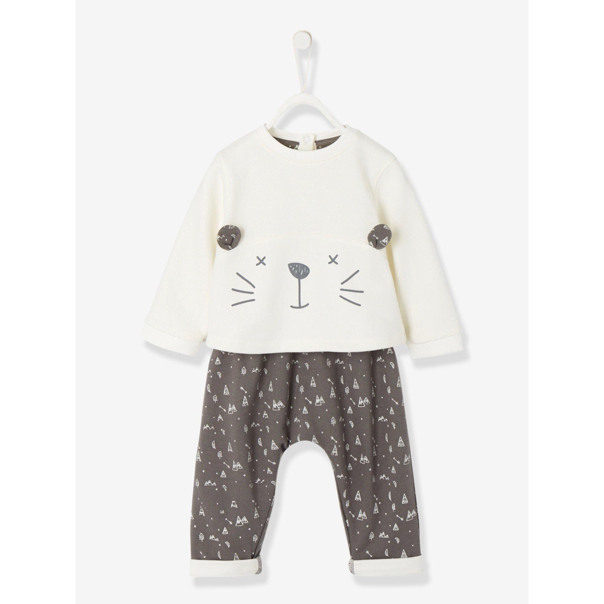 vertbaudet-babyset-aus-sweatshirt-und-haremshose, 20.99 EUR @ babywalz-de
