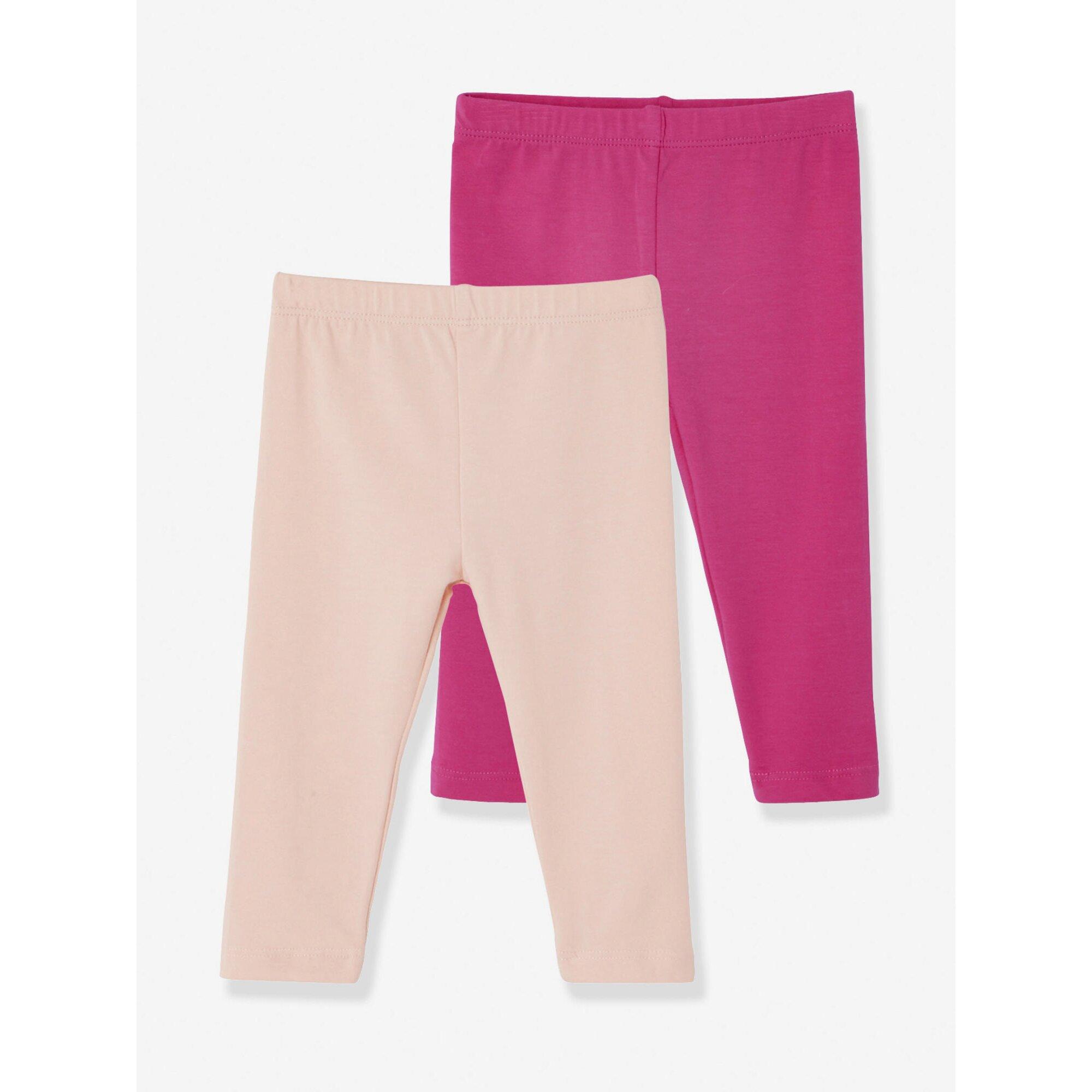 vertbaudet-2er-pack-leggings-baby-madchen, 9.34 EUR @ babywalz-de