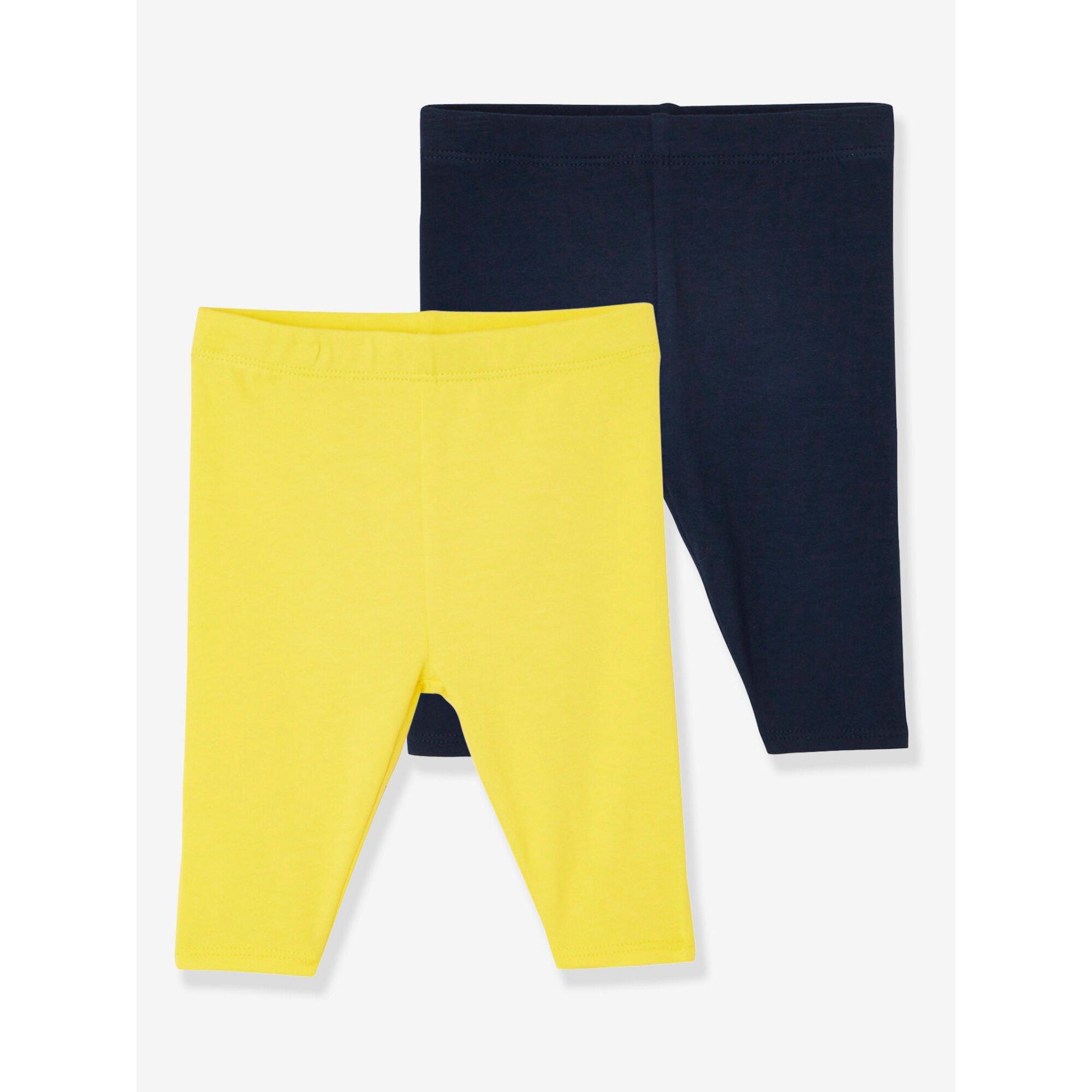 vertbaudet-2er-pack-kurze-leggings-baby-madchen