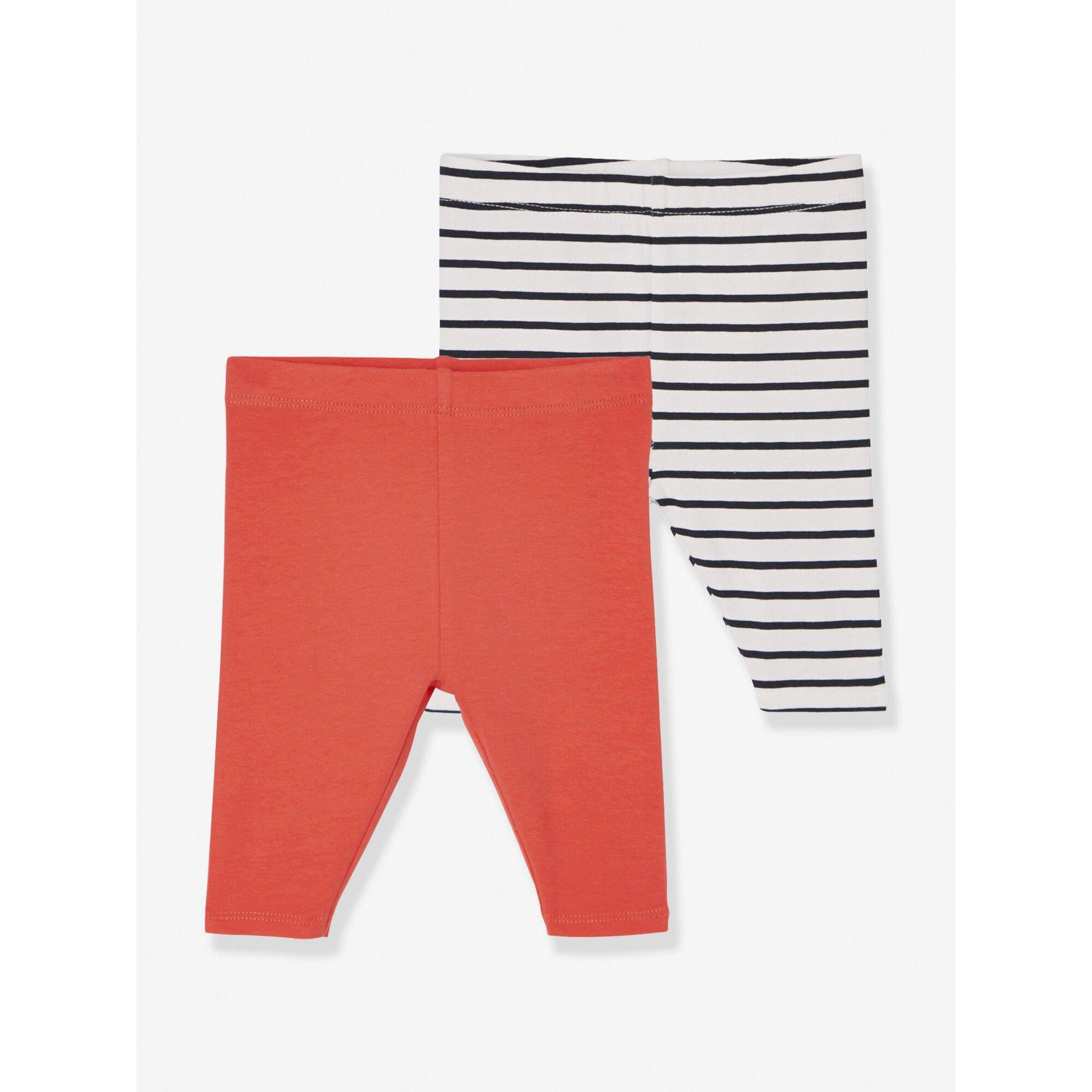 vertbaudet-2er-pack-kurze-leggings-baby-madchen, 6.99 EUR @ babywalz-de