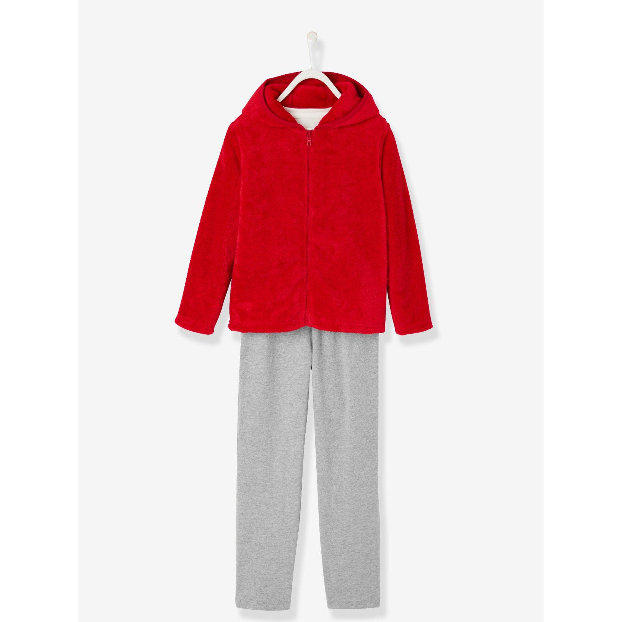 vertbaudet-set-aus-schlafanzug-und-plusch-cardigan, 30.99 EUR @ babywalz-de