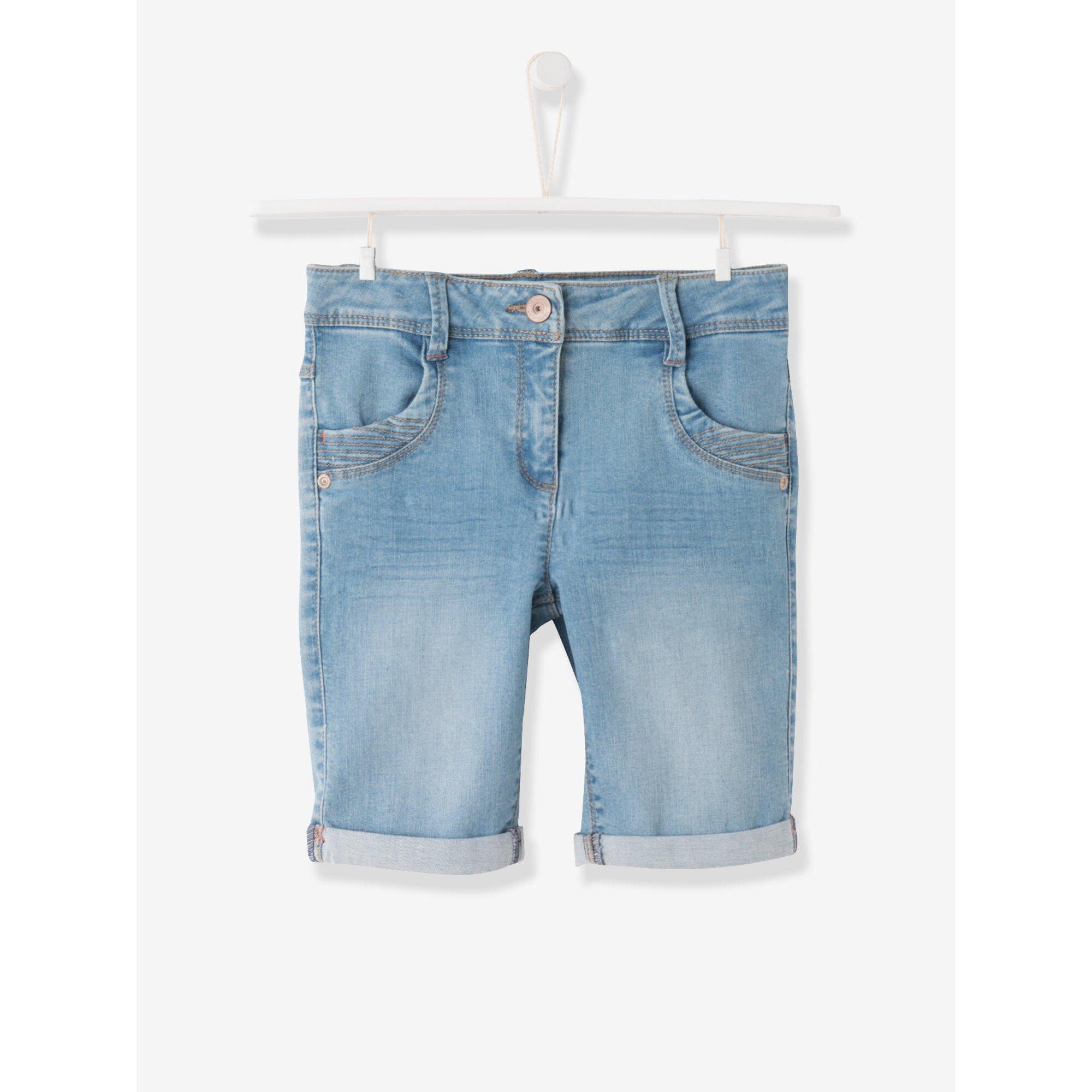 Vertbaudet Jeans-Bermudas für Mädchen