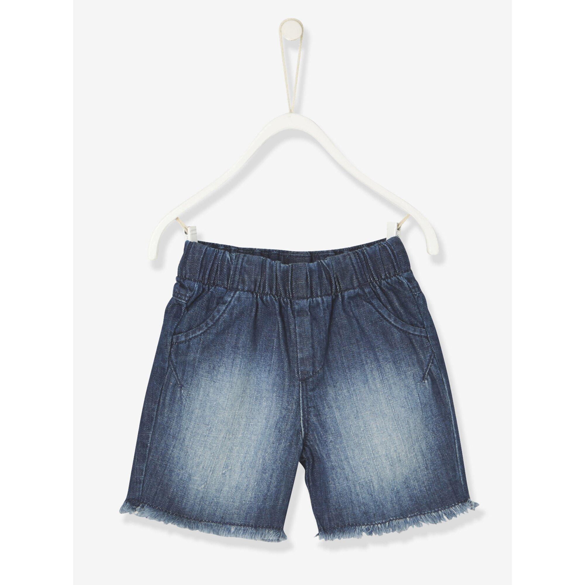 Vertbaudet Jeans-Bermudas für Baby Jungen