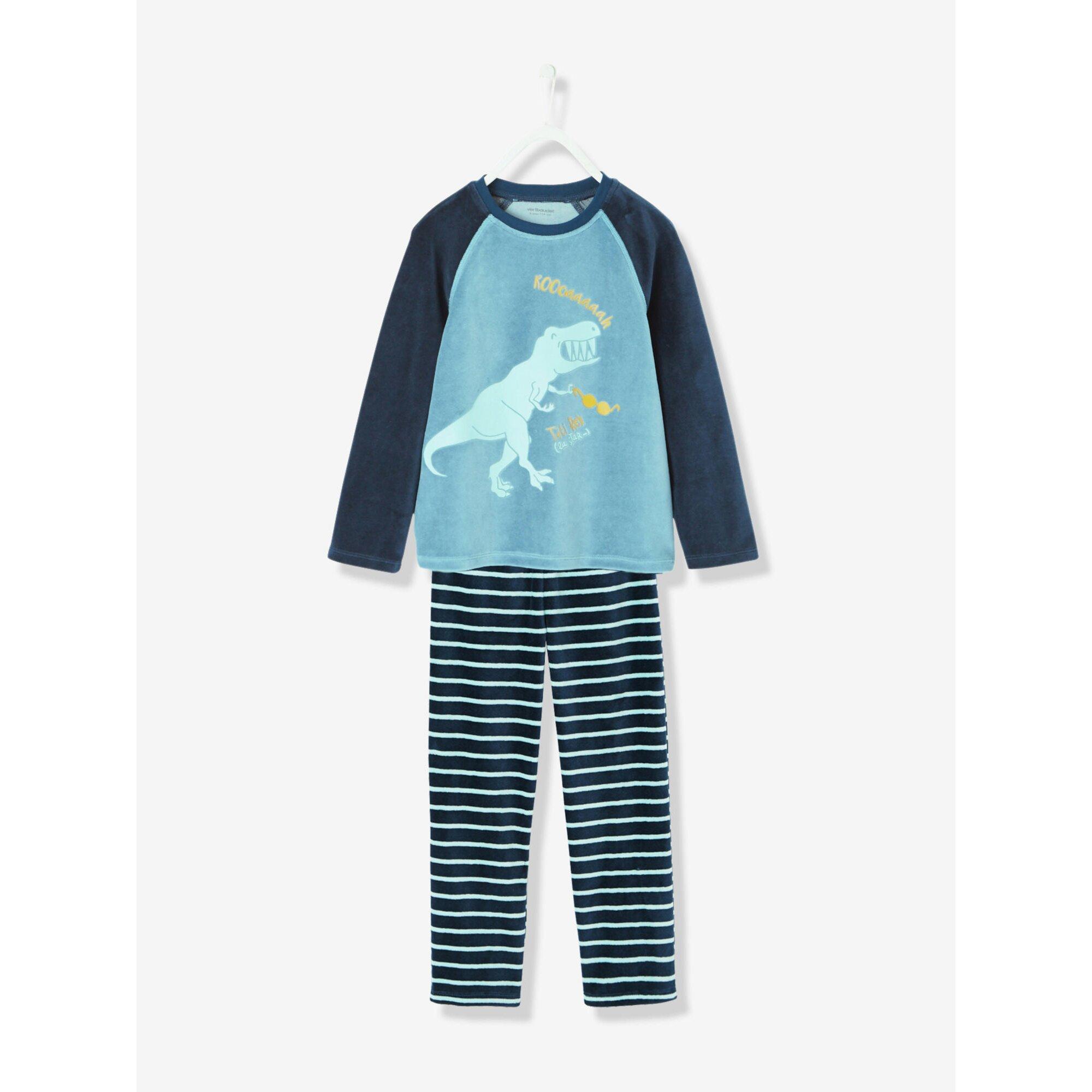 vertbaudet-samt-pyjama-fur-jungen