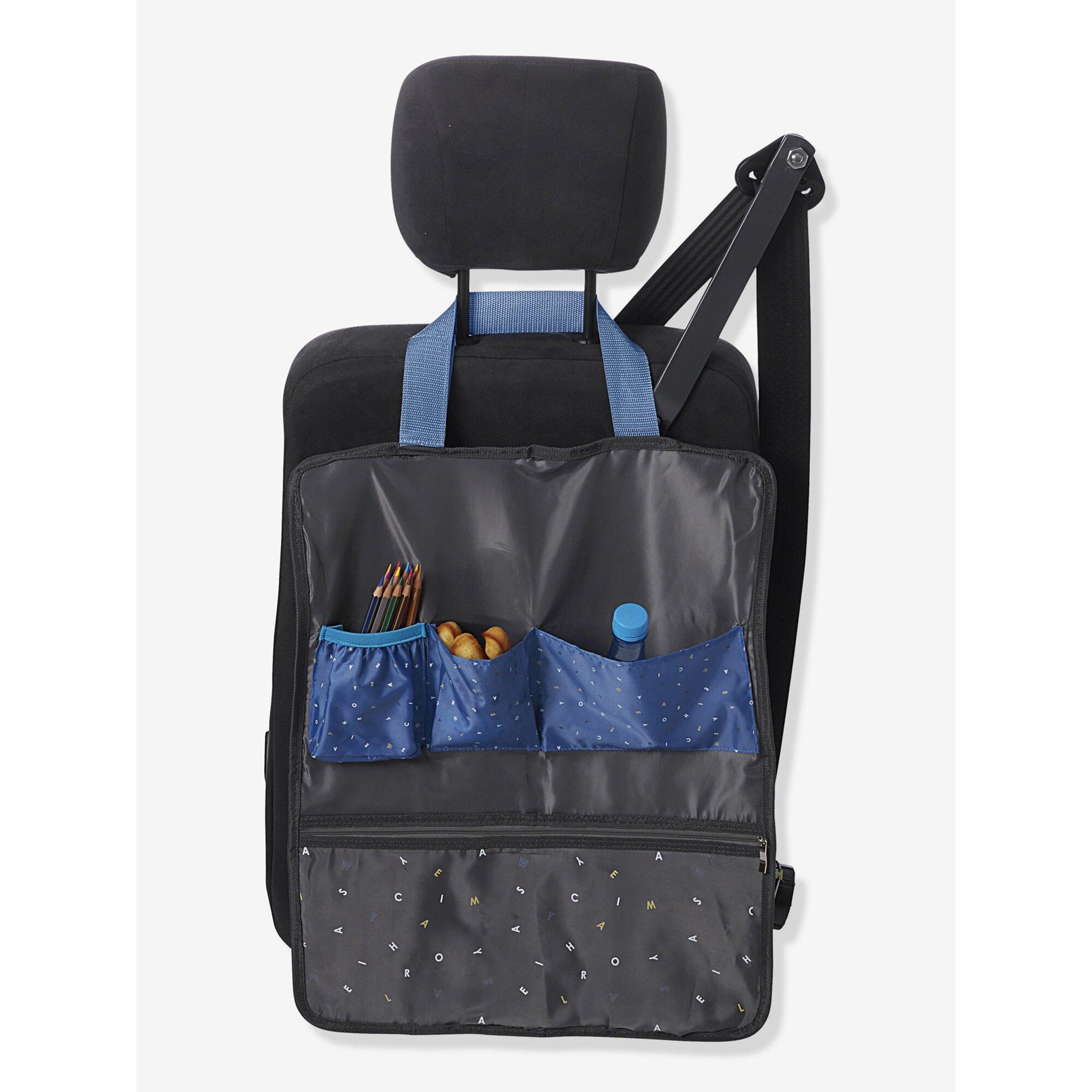 Vertbaudet Auto-Rücksitztasche für Kinder blau