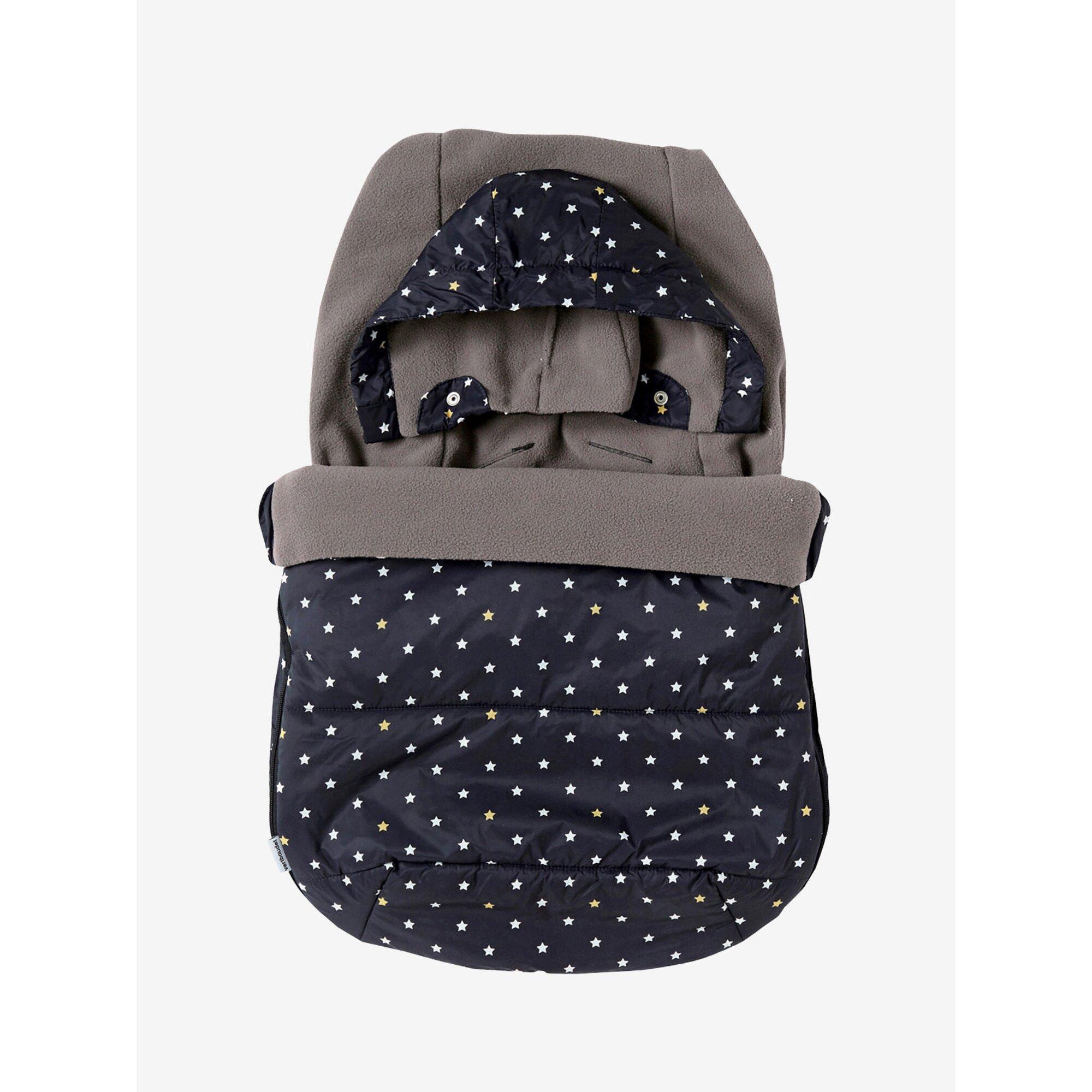 vertbaudet-warmer-fu-sack-fur-babyschalen-mit-sternen-schwarz