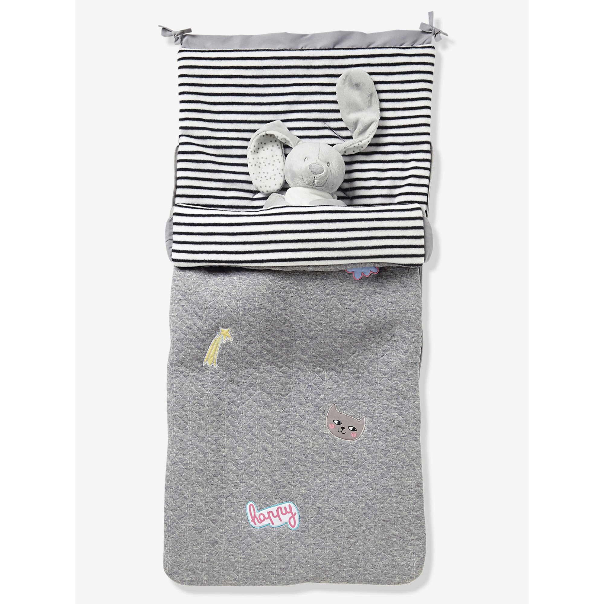 vertbaudet-buggy-fu-sack-fleecefutter-grau, 49.99 EUR @ babywalz-de