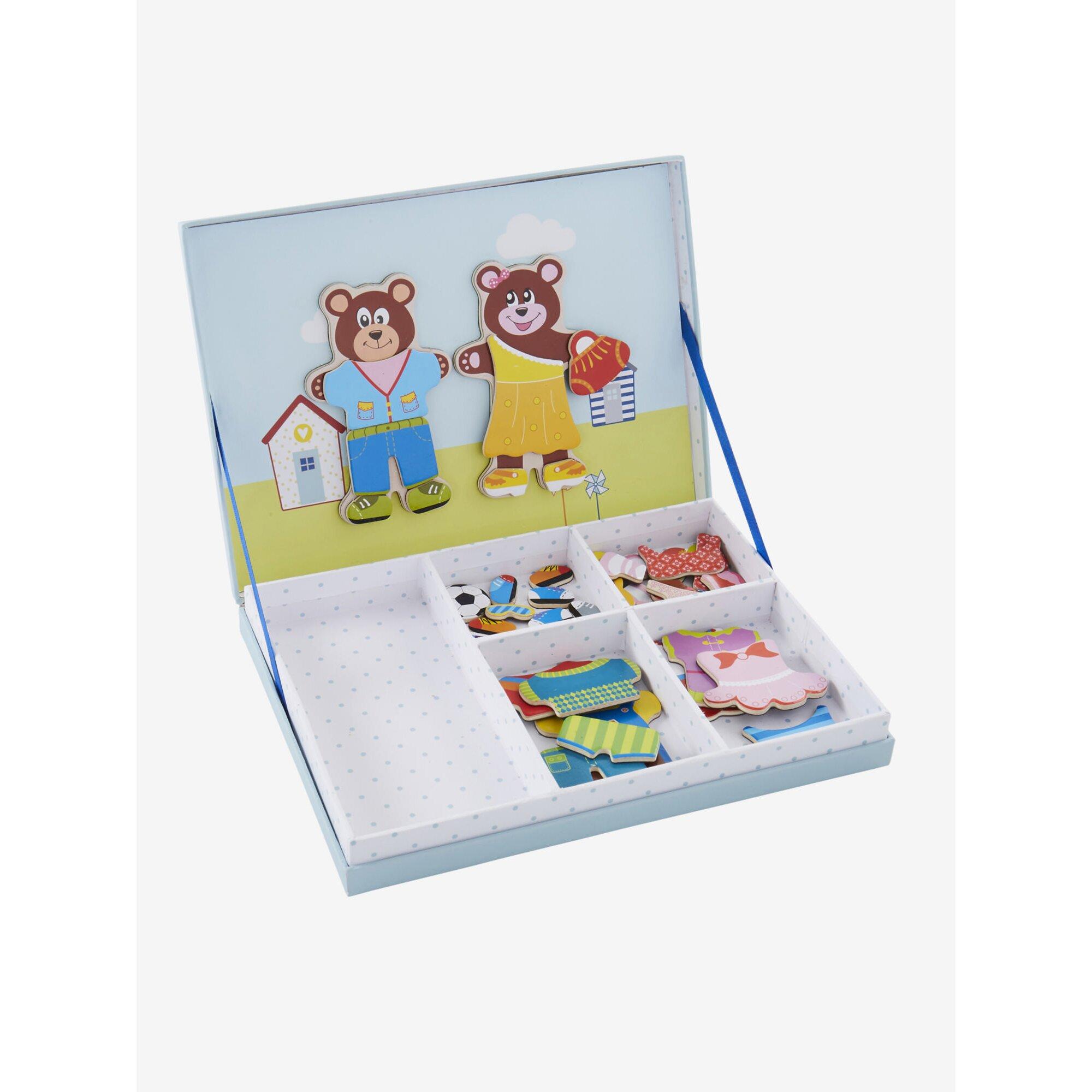 vertbaudet-anzieh-magnetspiel-teddy-47-teile