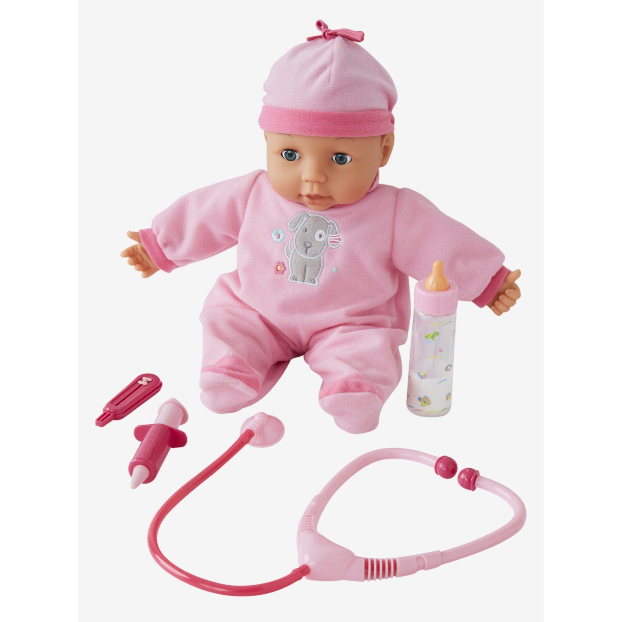 Vertbaudet Puppe mit Arzt-Zubehör, 38 cm