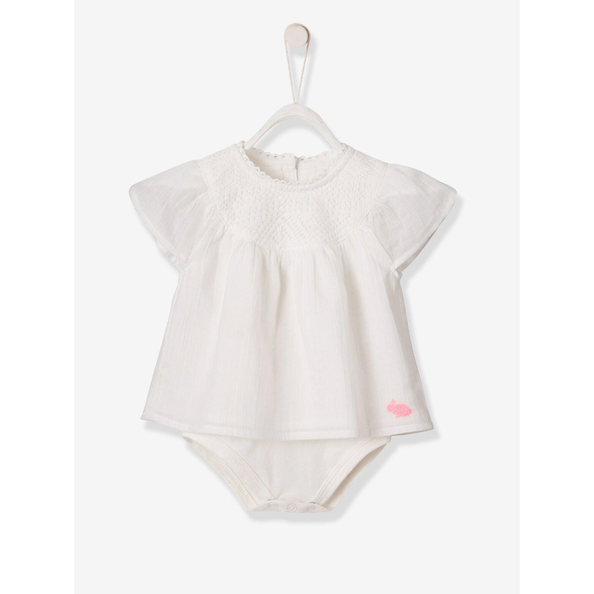 Vertbaudet Festlicher Shirt-Body für Baby Mädchen