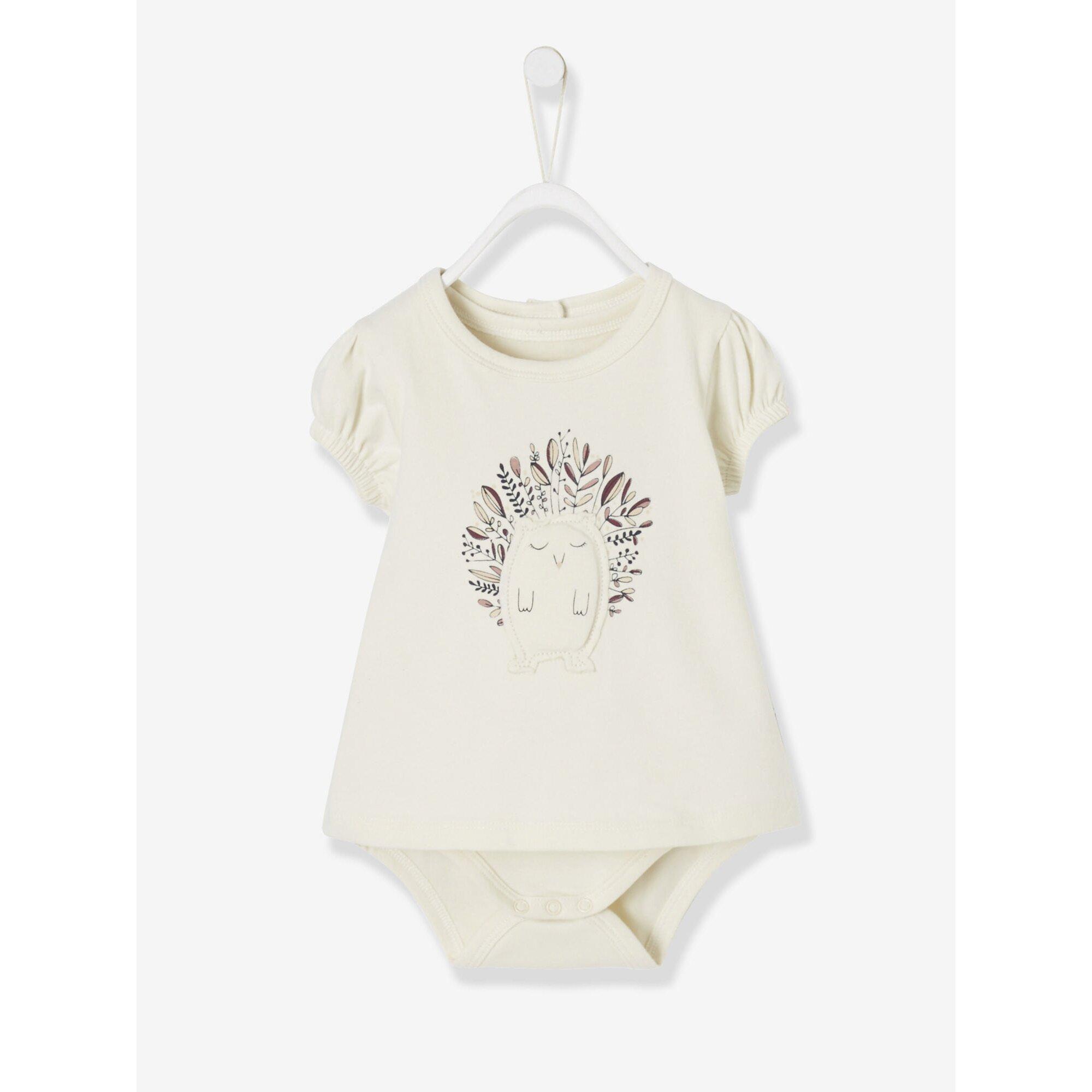 Vertbaudet Baby Mädchen Shirt-Body, Igel