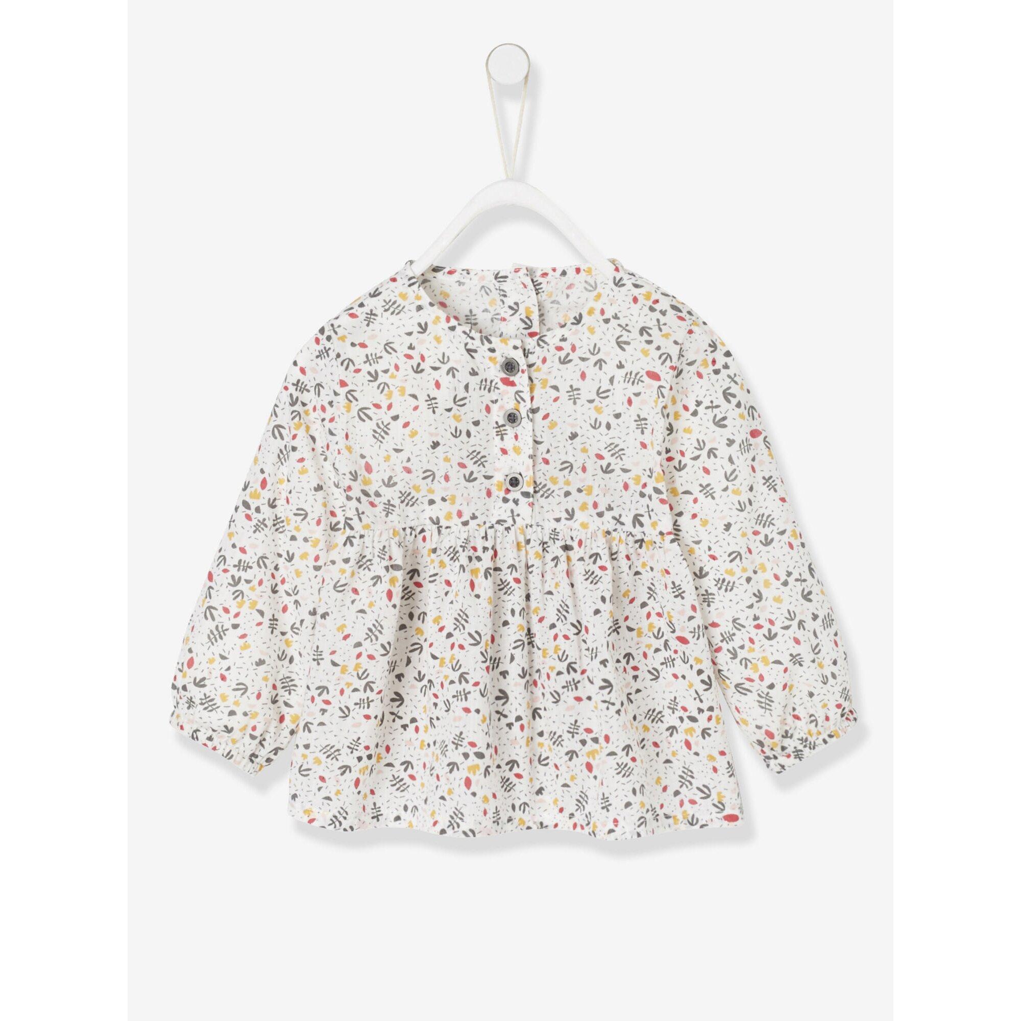 Vertbaudet Baby Mädchen Bluse, Blumenmuster