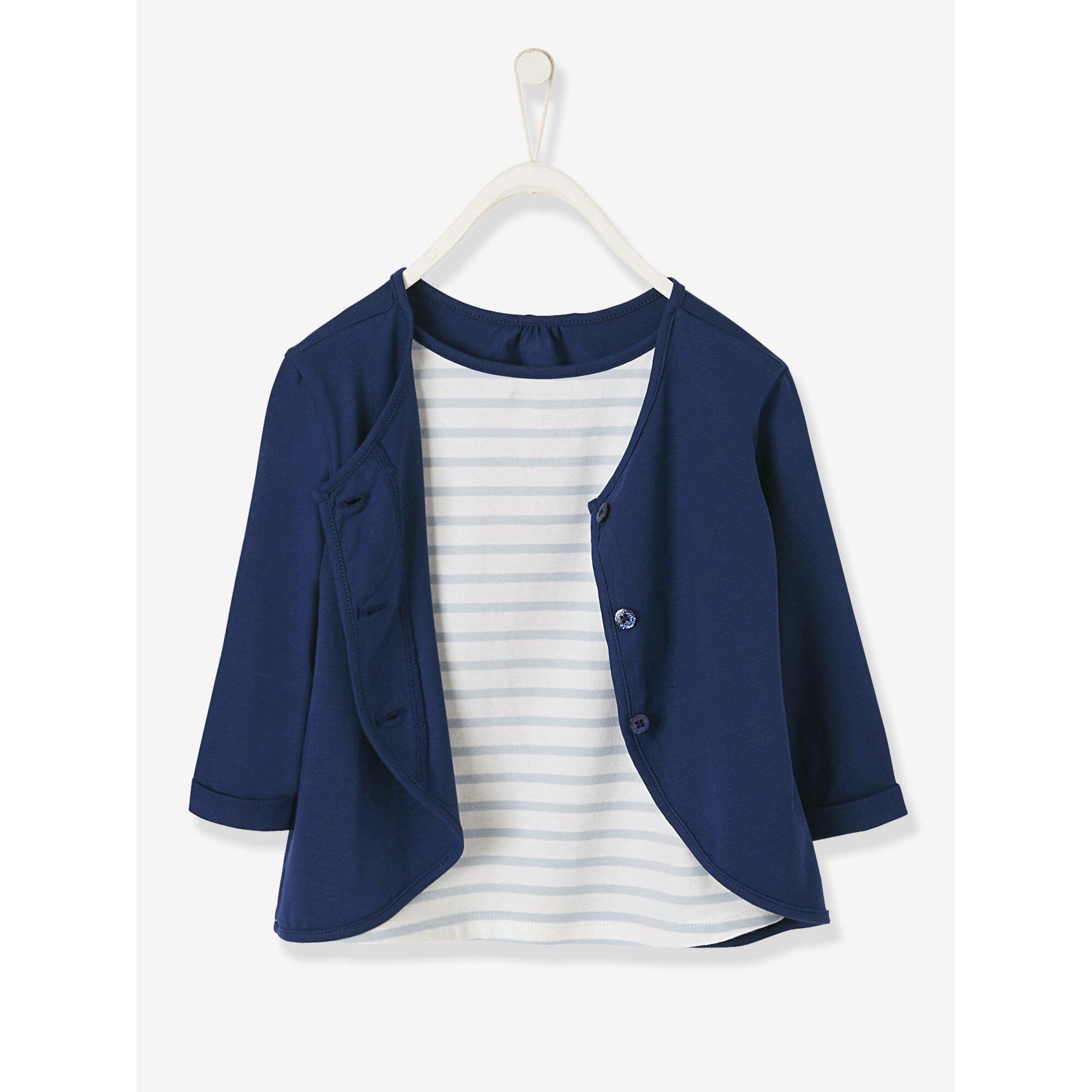 Vertbaudet 2-in-1-Shirt für Mädchen, bedruckt