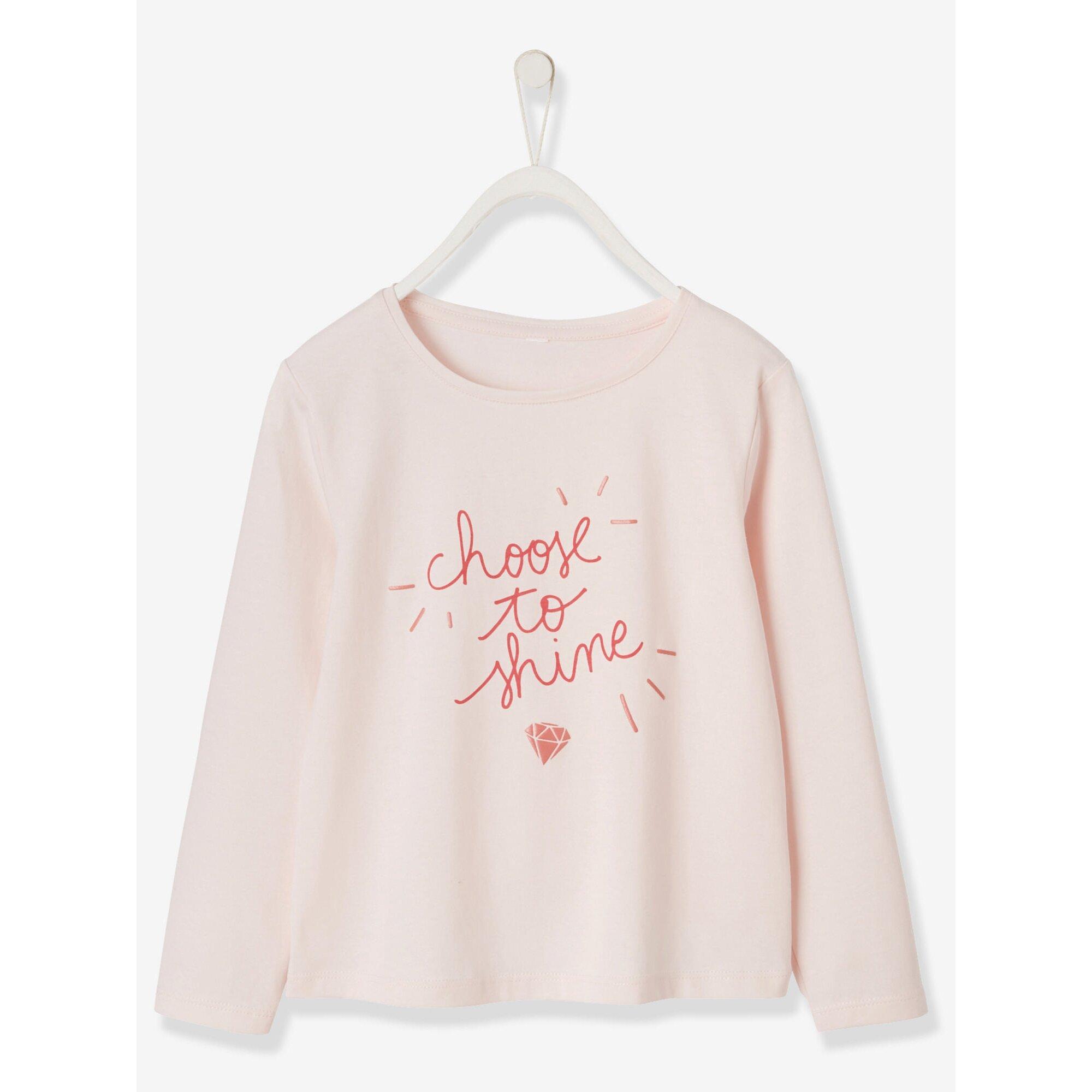 Vertbaudet Shirt für Mädchen, Glanzakzente