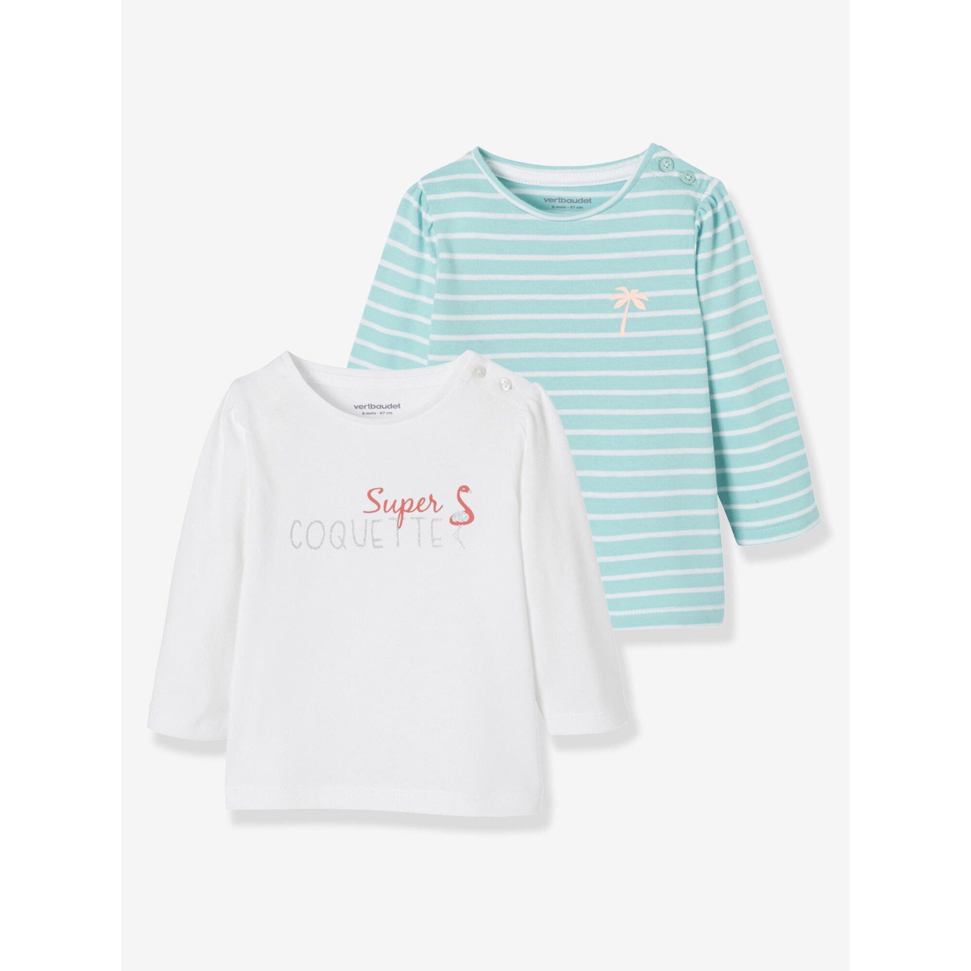 Vertbaudet 2er-Pack Babyshirts für Mädchen