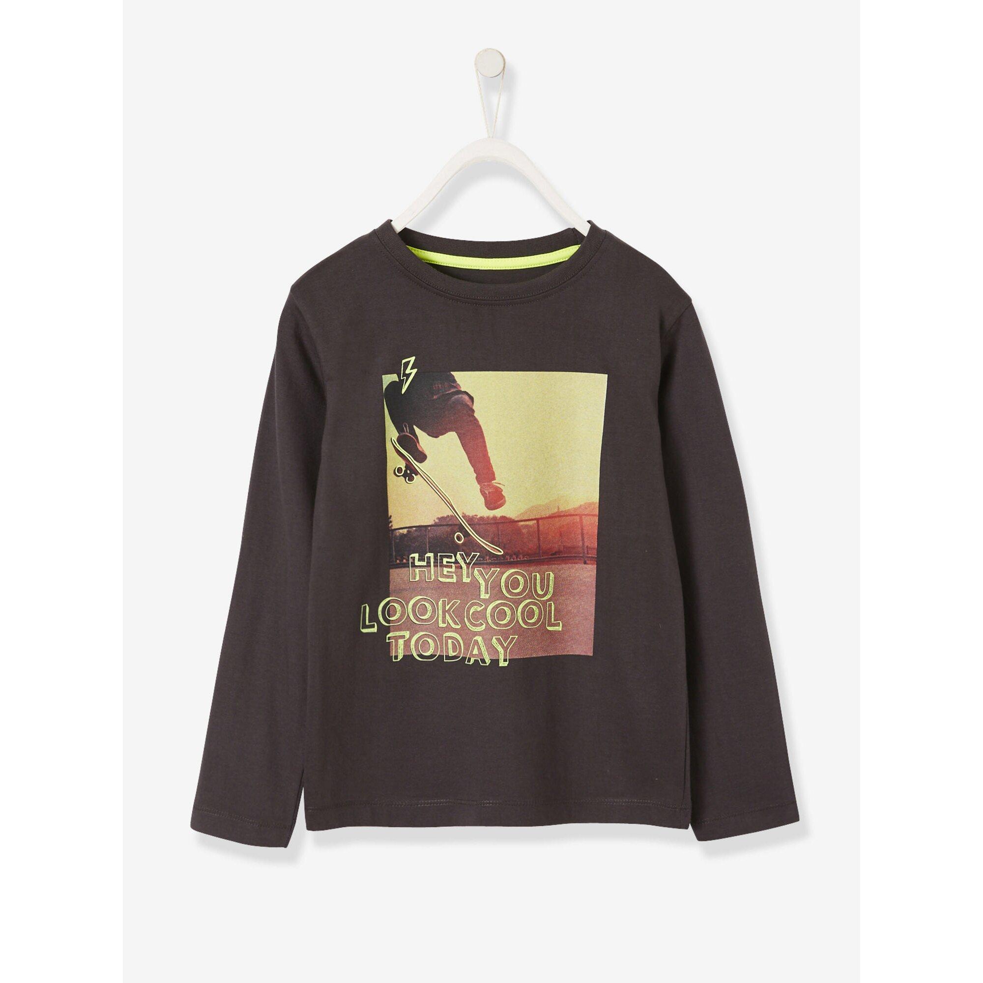 Vertbaudet Langarm-Shirt für Jungen, Skatermotiv