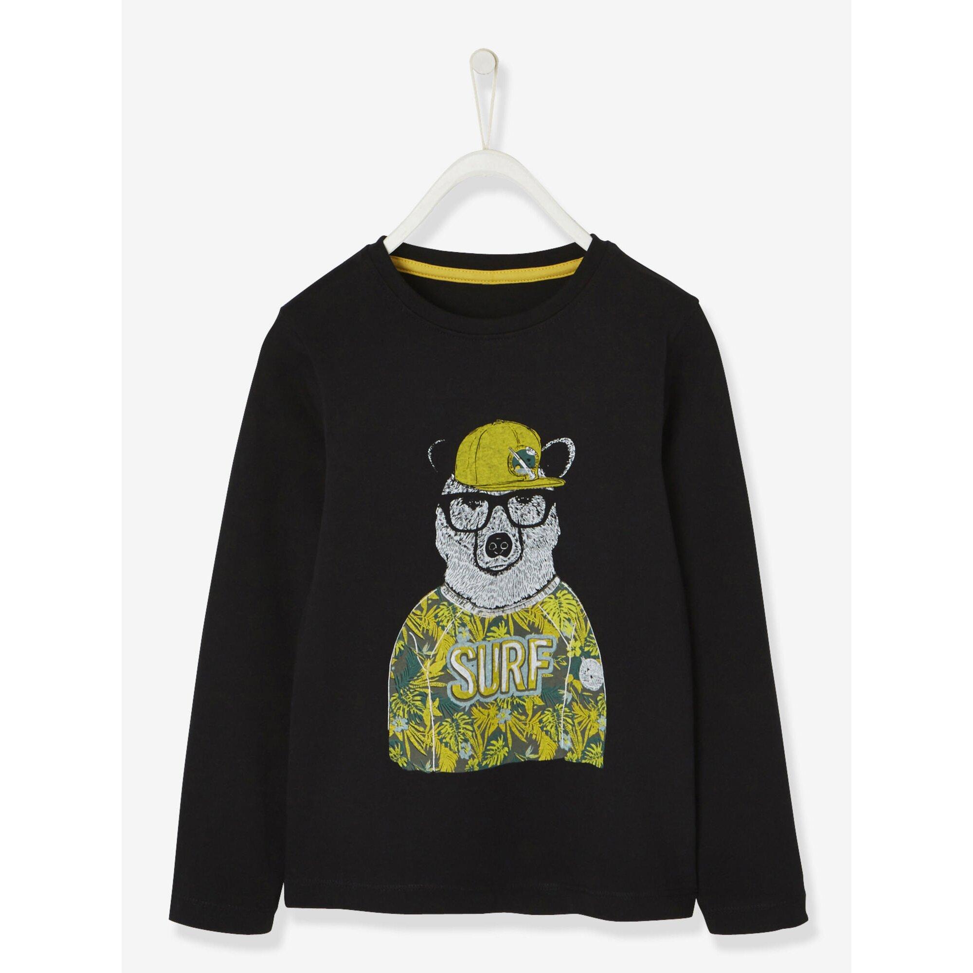 Vertbaudet Langarm-Shirt für Jungen, Teddy