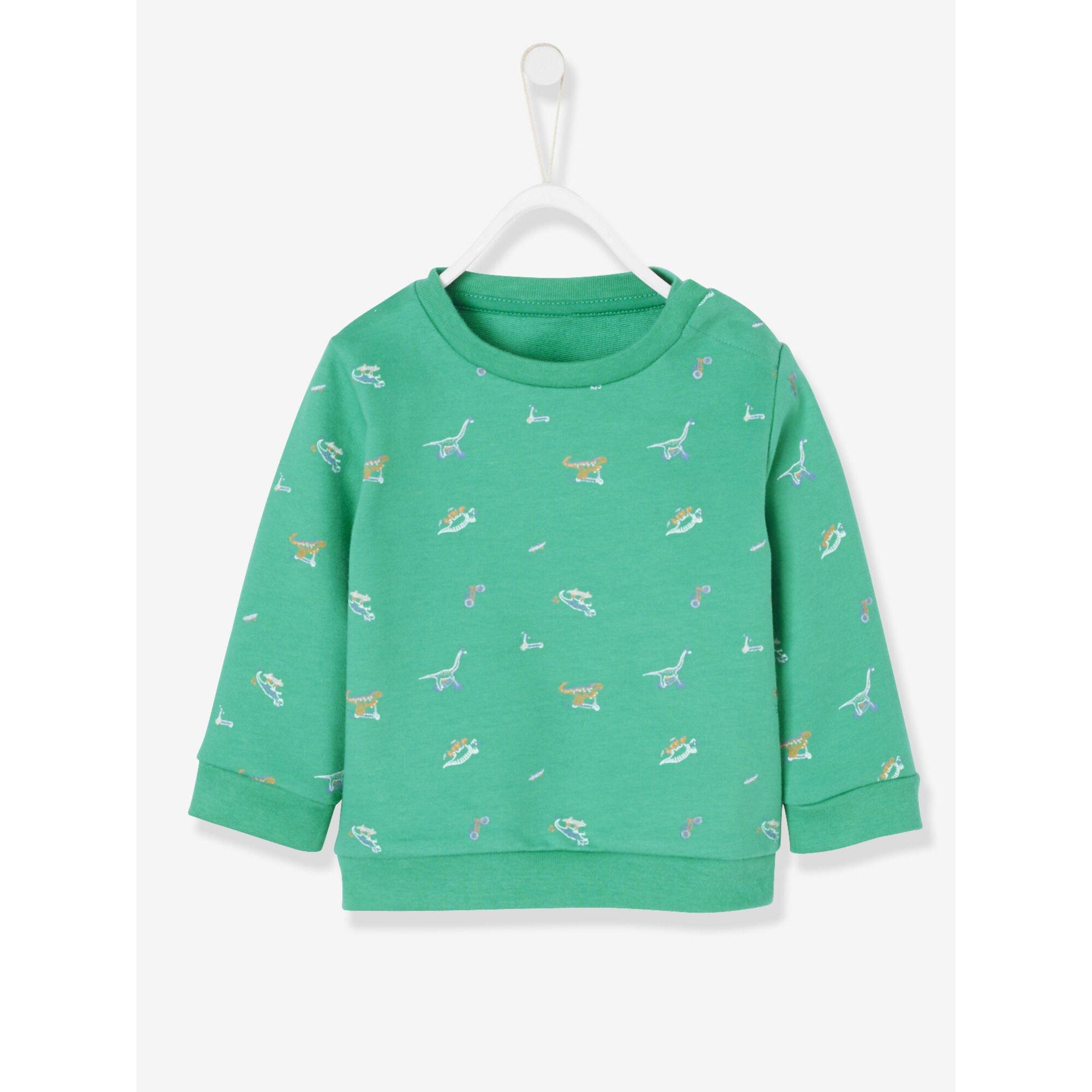 Vertbaudet Baby-Sweatshirt für Jungen, Dino-Motiv