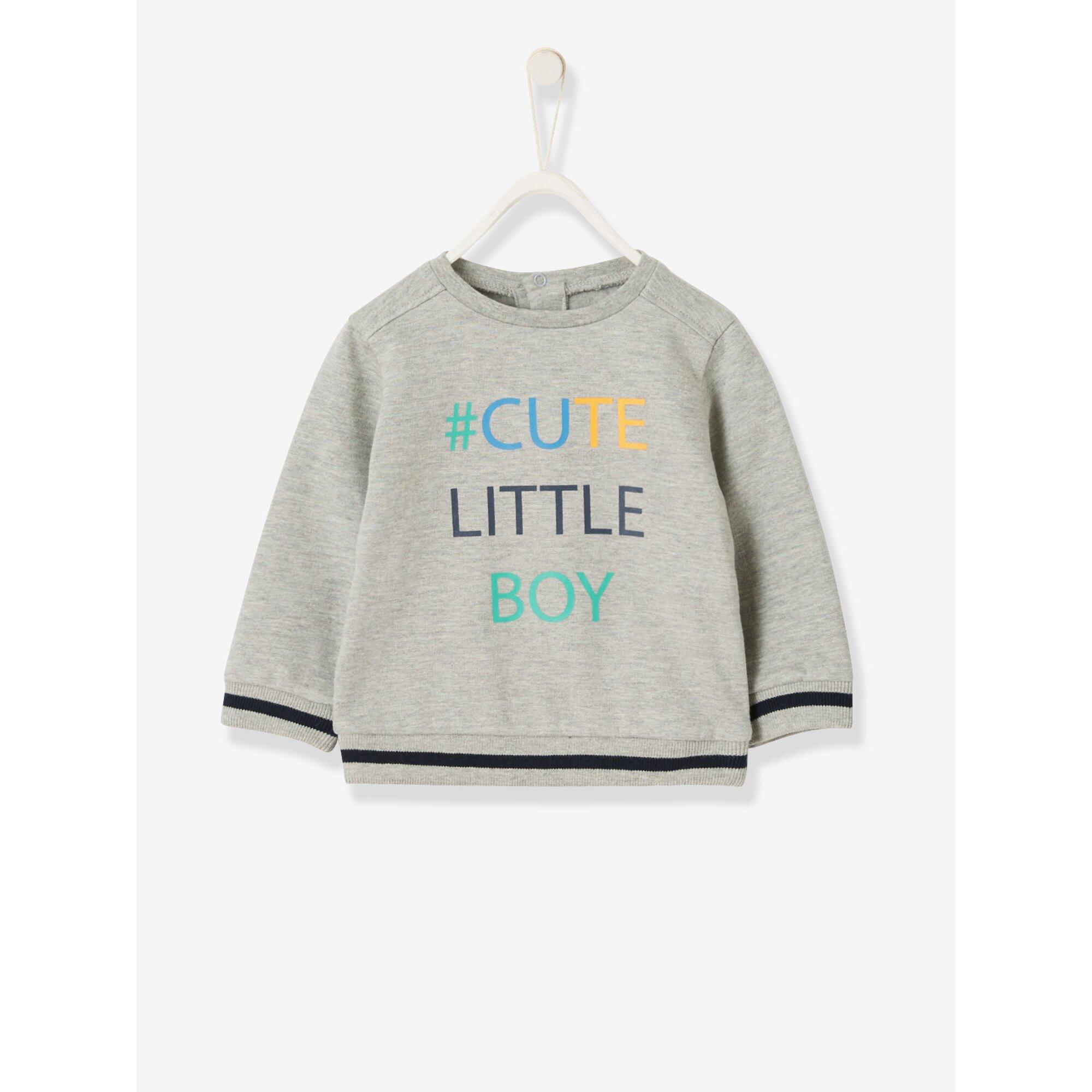 Vertbaudet Sweatshirt für Baby Jungen mit Aufschrift