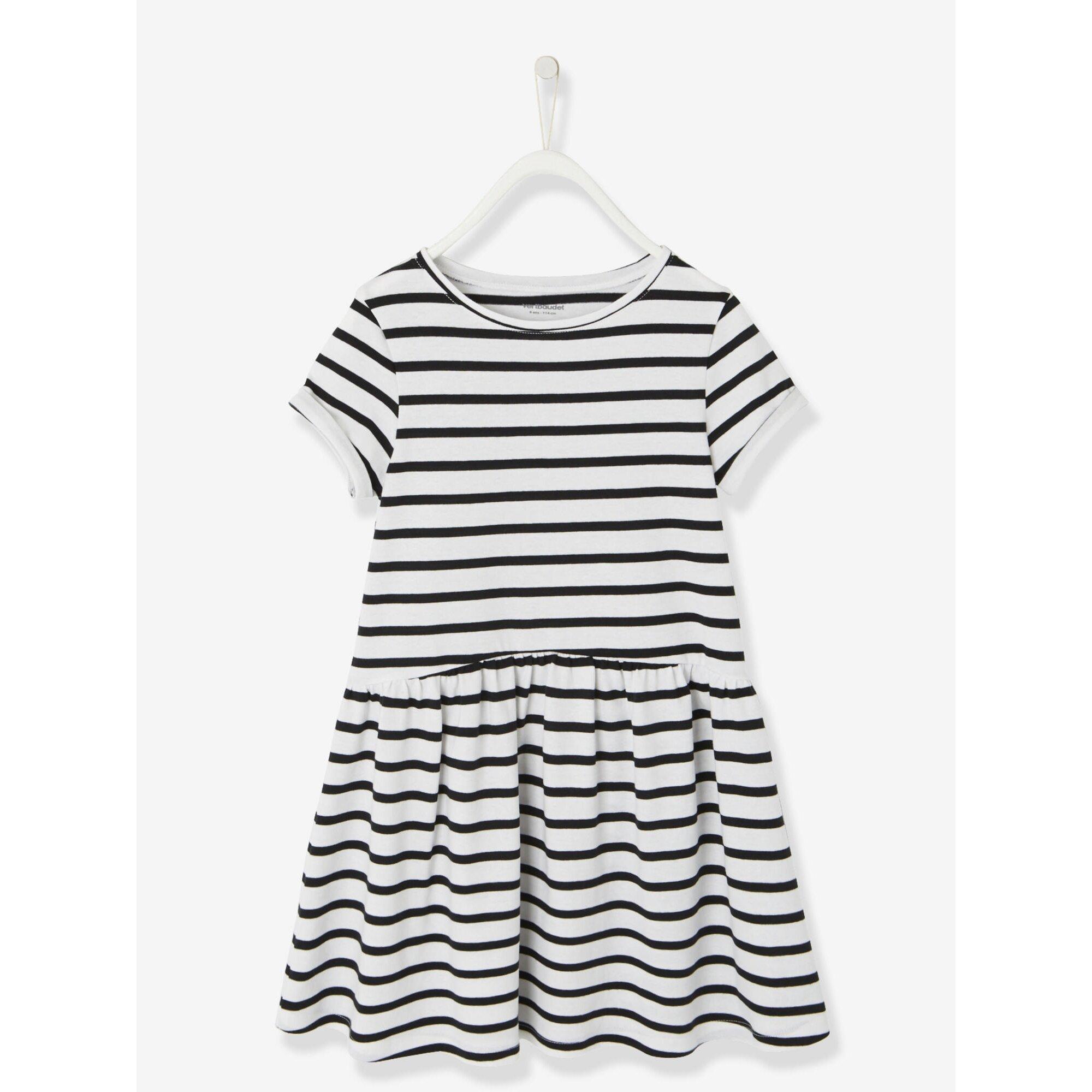 Vertbaudet Kurzärmeliges Kleid für Mädchen