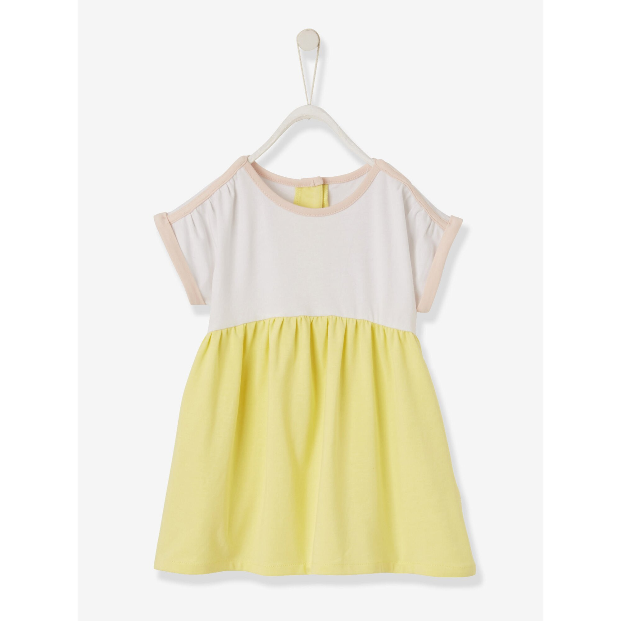 Vertbaudet Babykleid aus Jersey, zweifarbig