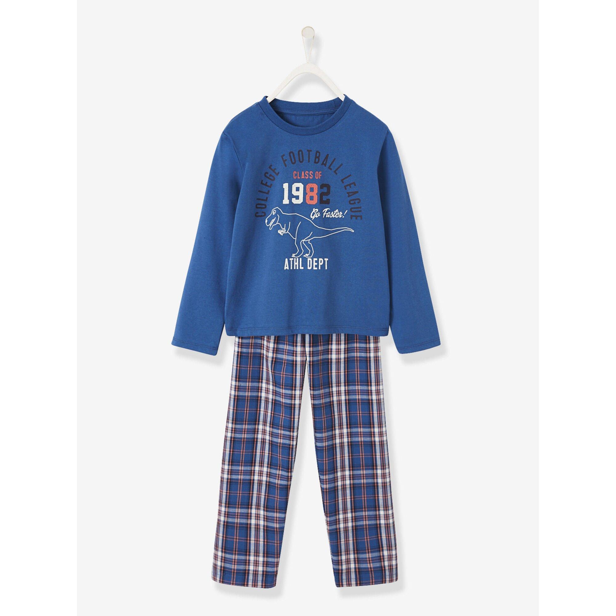 Vertbaudet Pyjama für Jungen, Materialmix