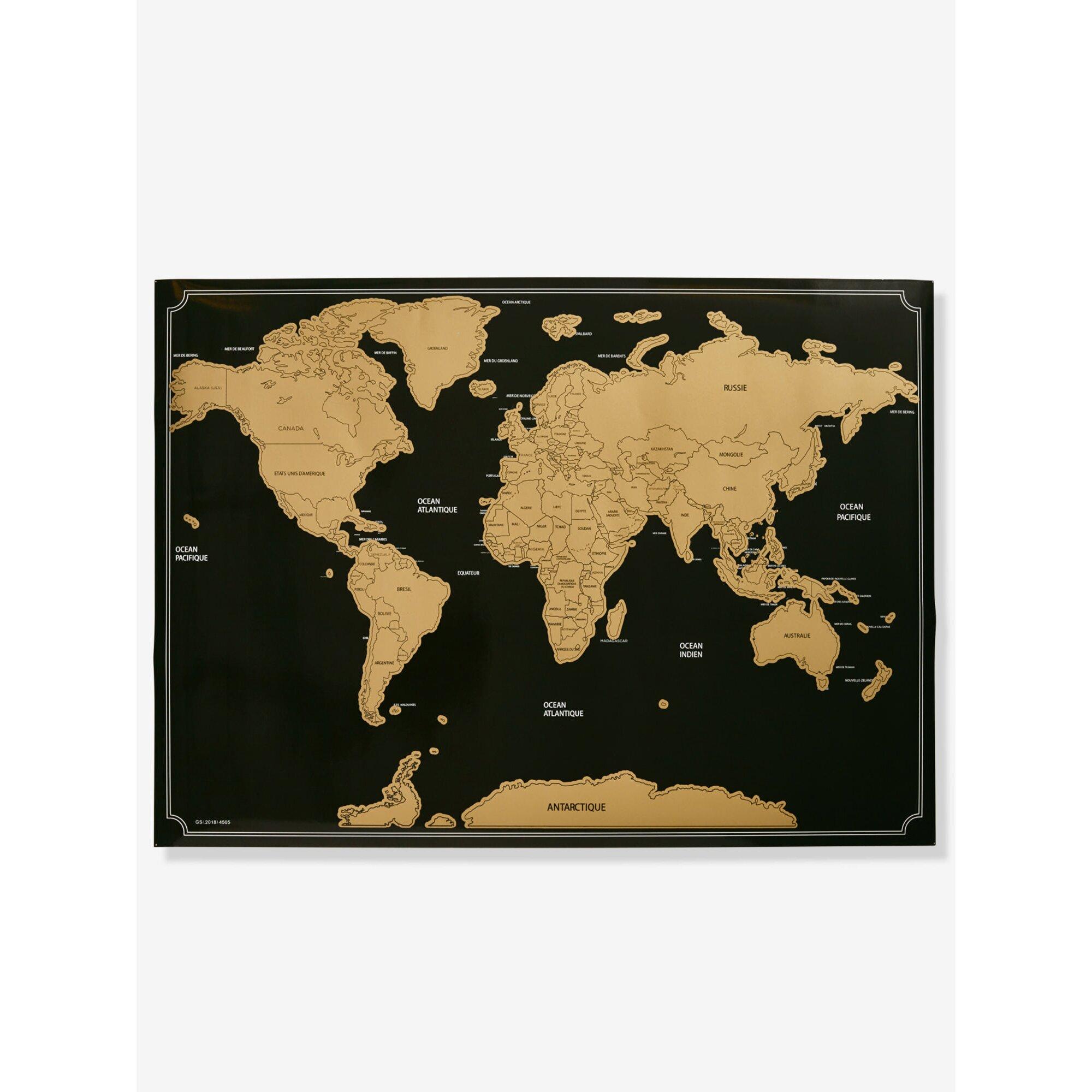 Vertbaudet Weltkarte zum Rubbeln